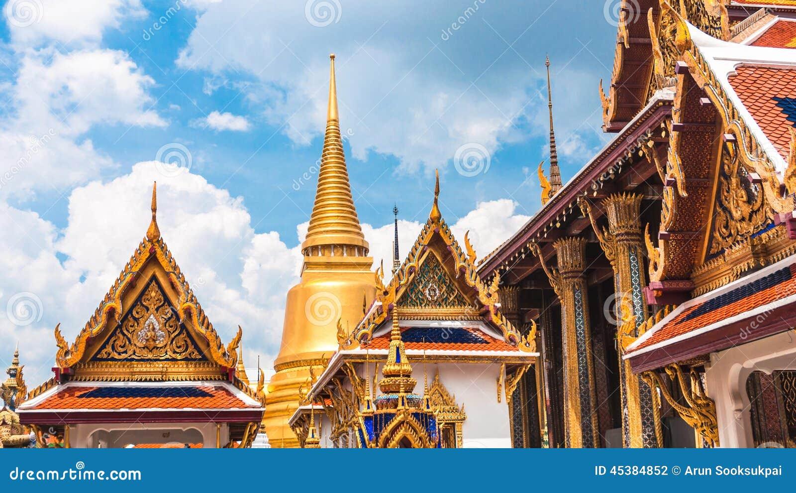 曼谷玉佛寺,盛大宫殿在曼谷,泰国 图库摄影片图片
