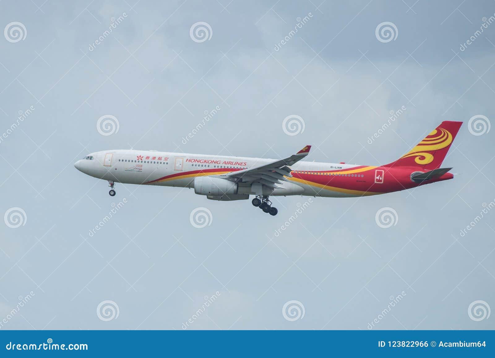 曼谷,泰国, 2018年8月12日:香港航空公司Reg 否 B-