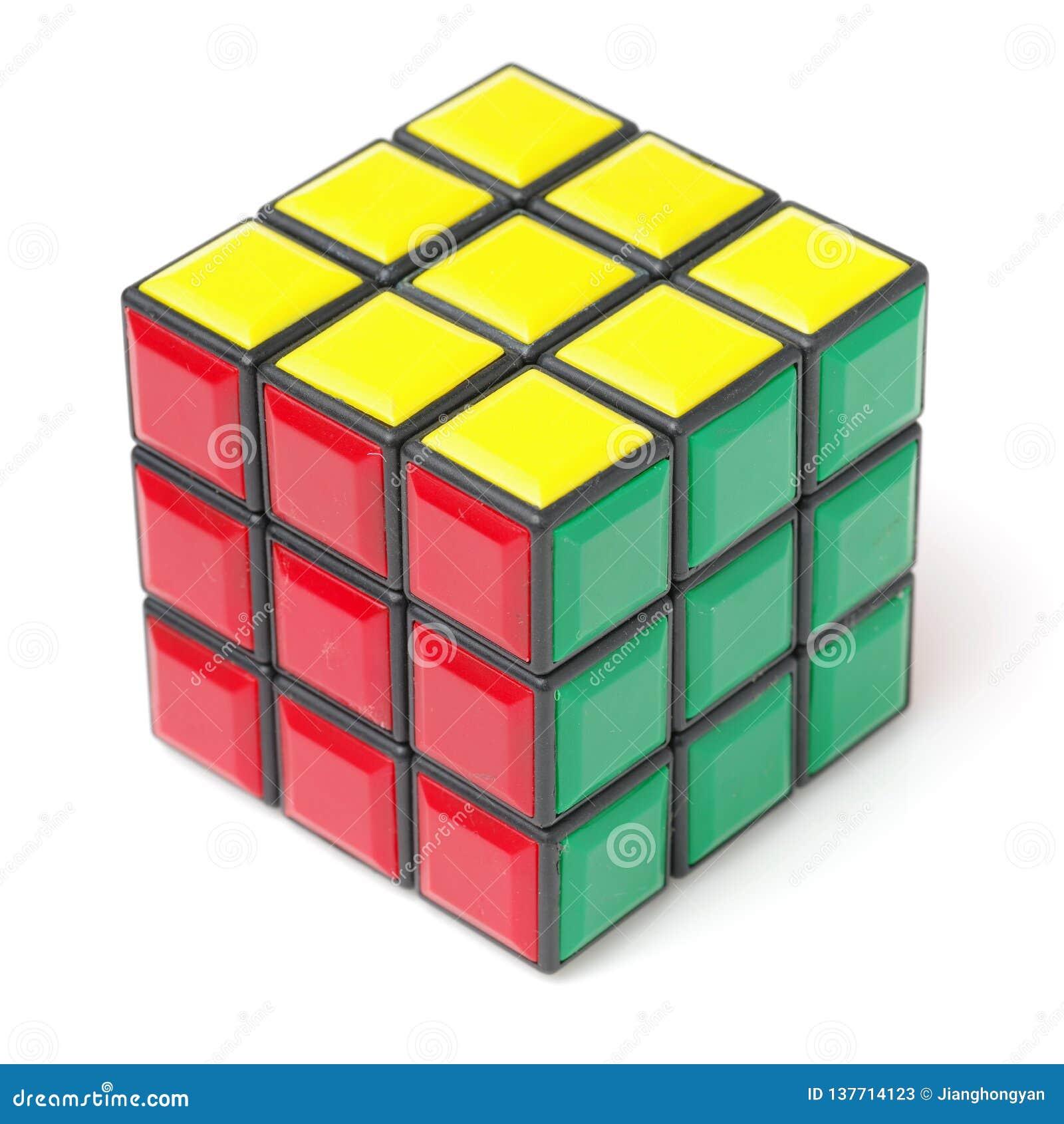 曼谷,泰国- 2017年11月11日:Rubik的立方体44为脑子是困难为戏剧,但是好