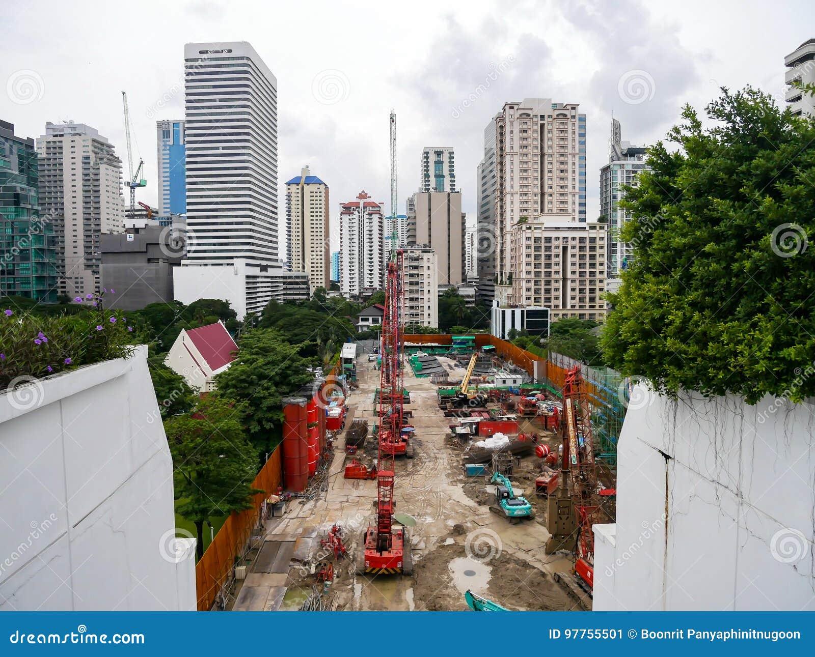 曼谷,泰国- 2017年8月6日:buil建造场所