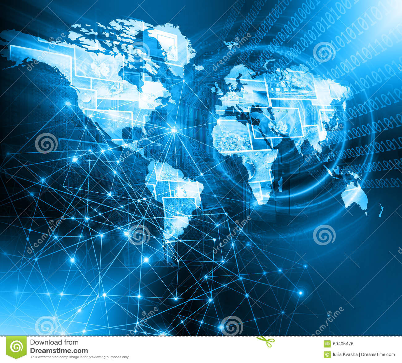 最佳的企业概念全球互联网 地球