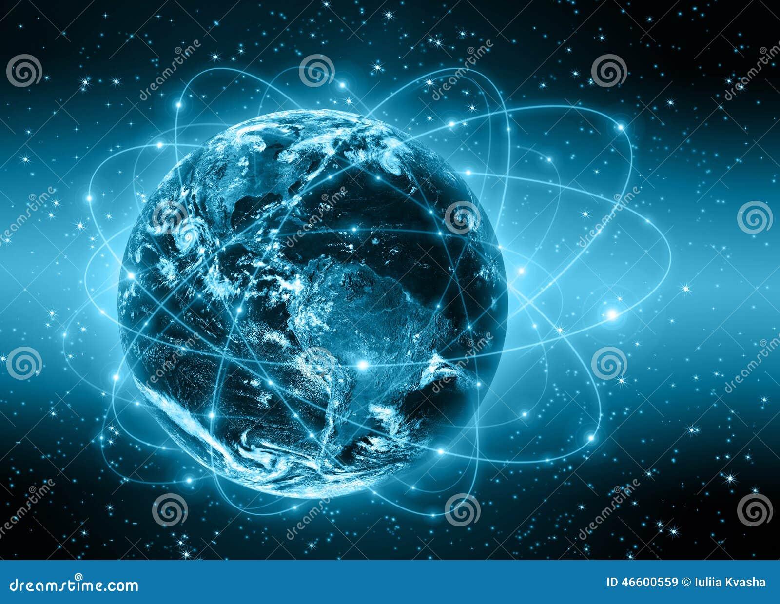 最佳的企业概念概念全球地球发光的现有量互联网系列
