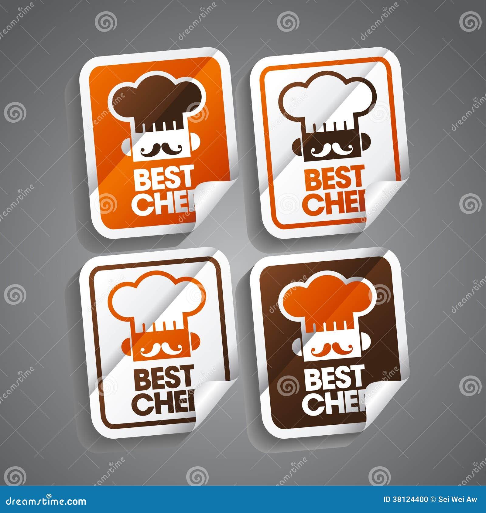 最佳的厨师贴纸