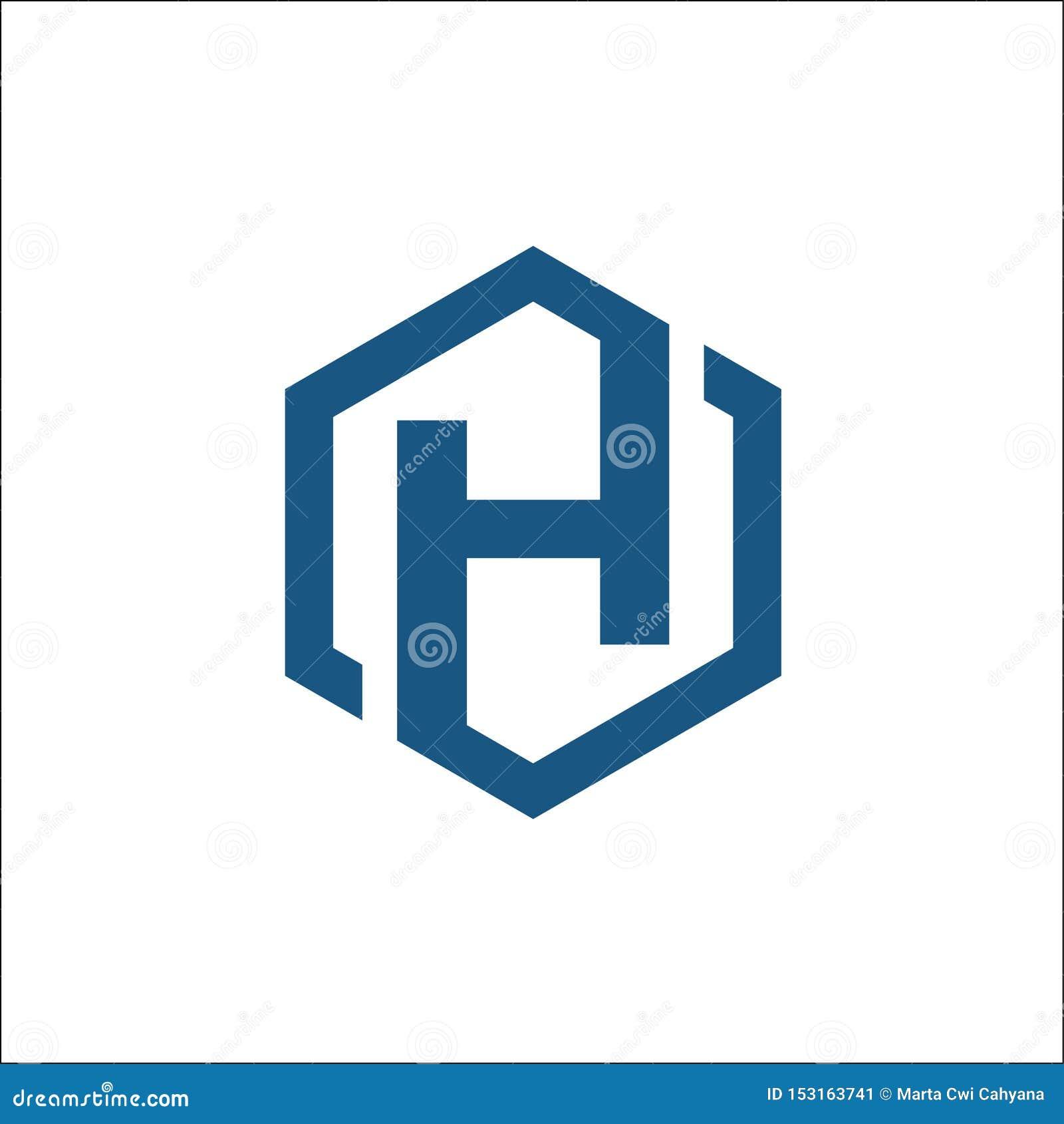 最初H六角形商标传染媒介