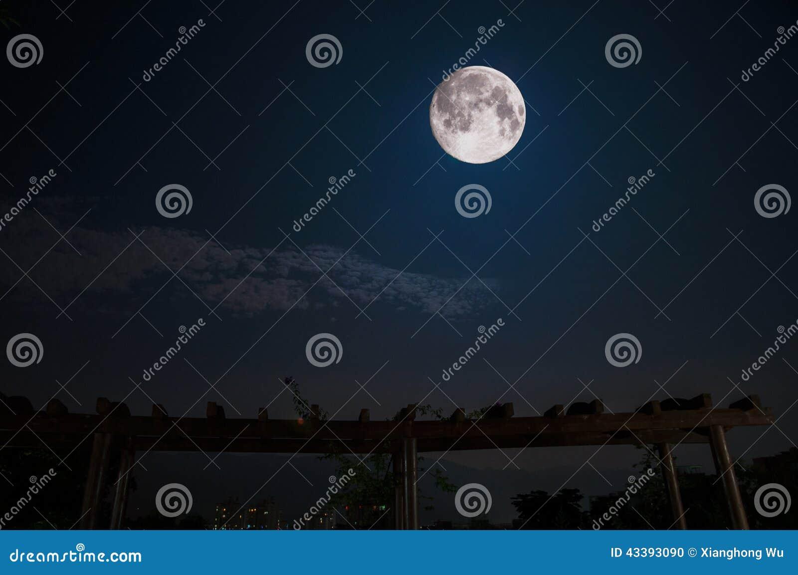 最大的月亮在夜