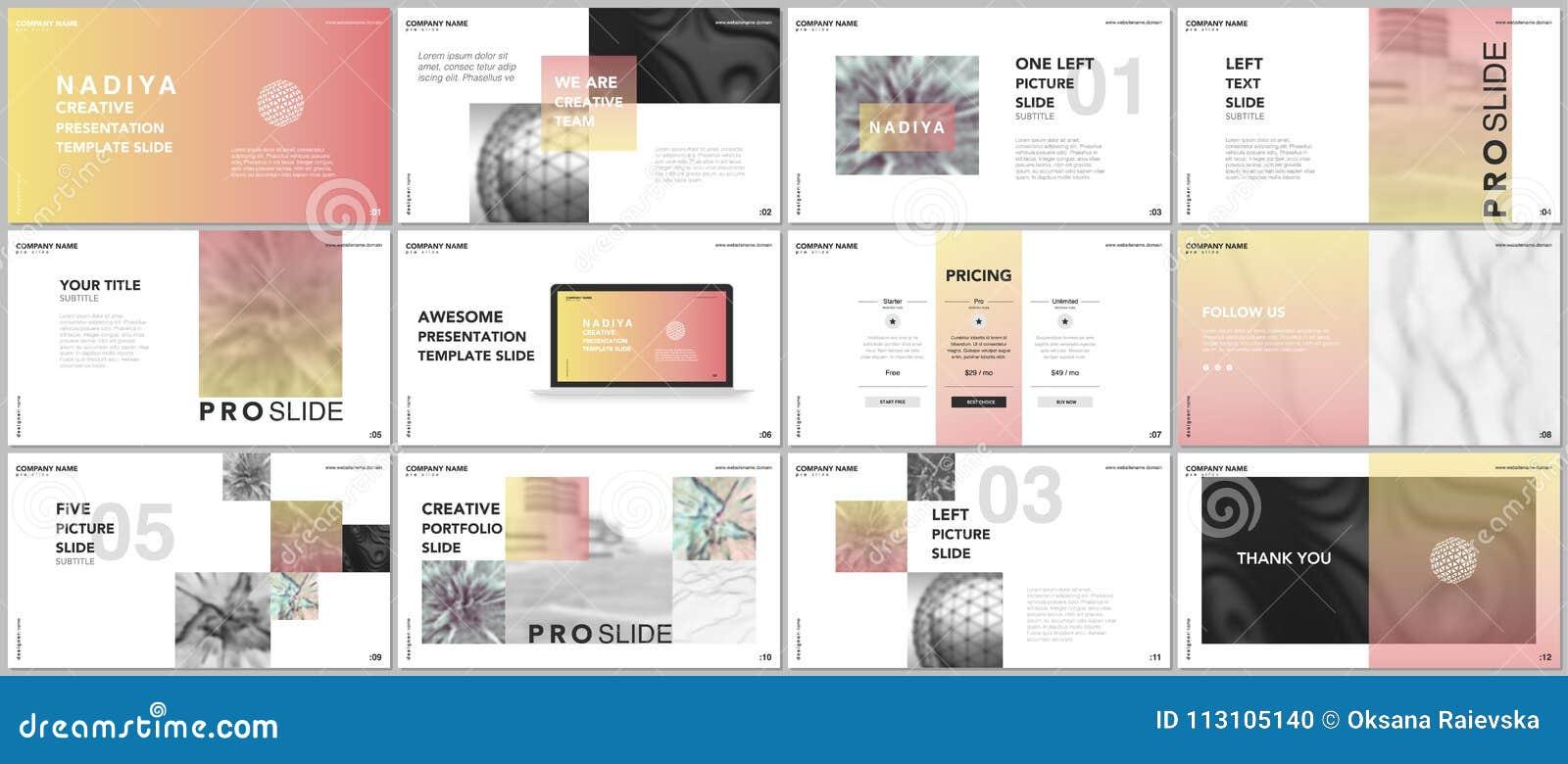 最小的介绍,股份单模板 在白色背景的蓝色元素 小册子盖子传染媒介设计 介绍幻灯片