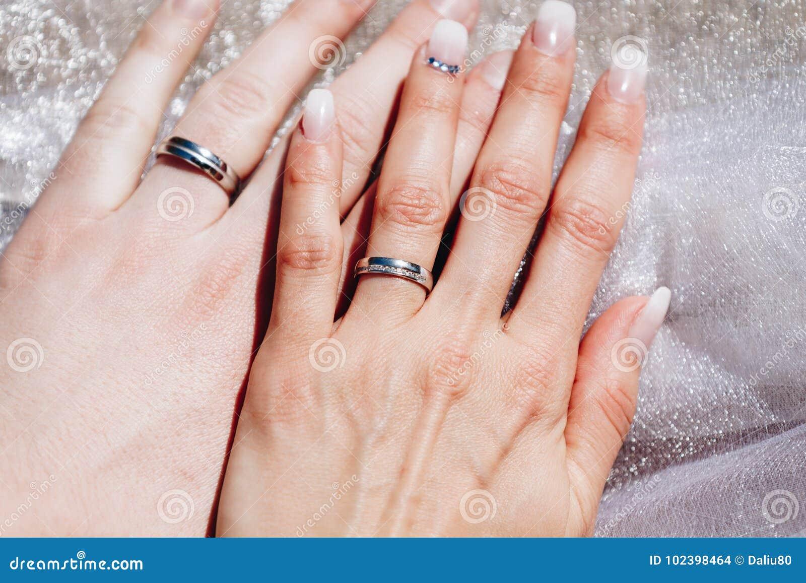 最近婚姻夫妇有婚戒的` s手