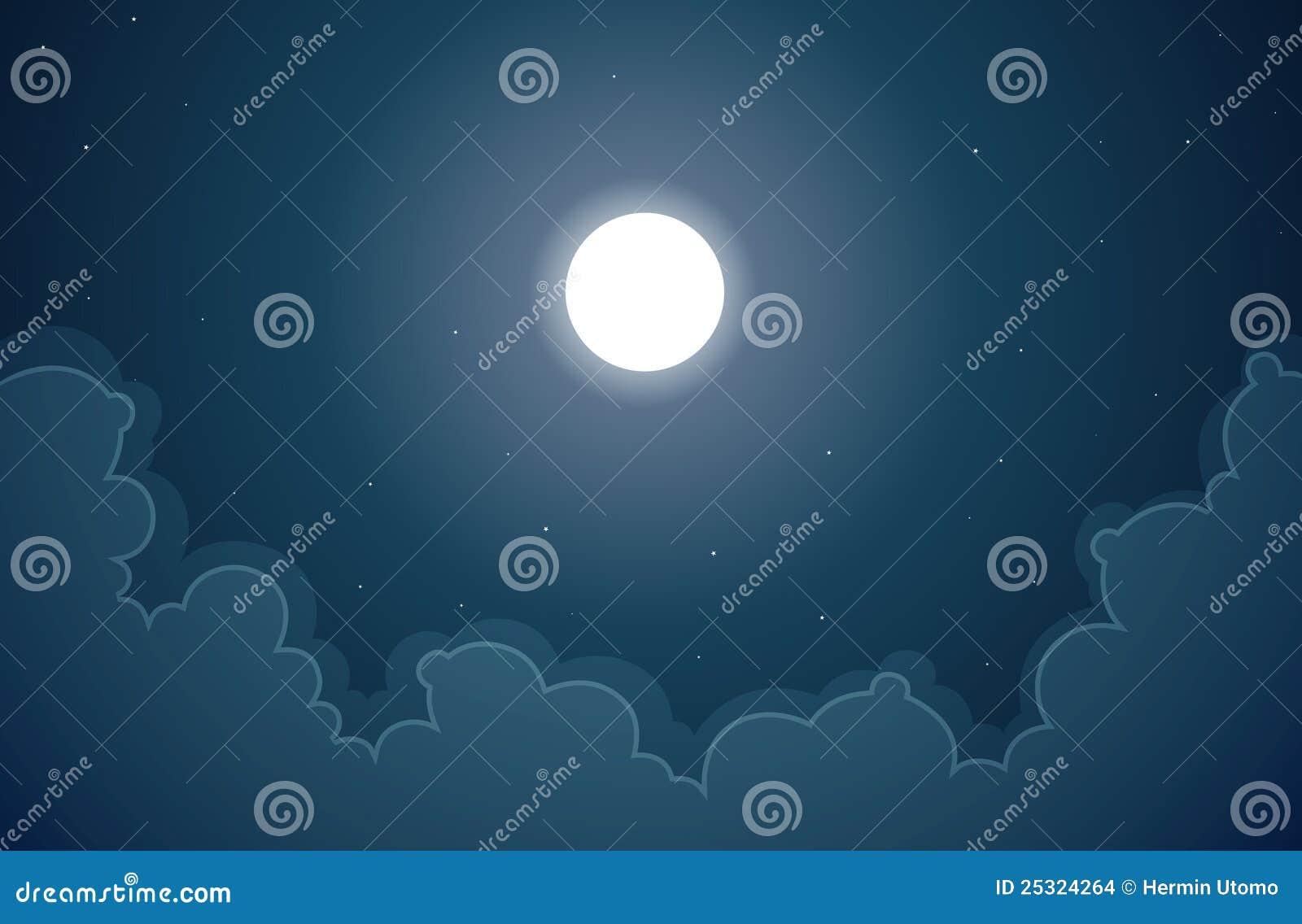 背景黑暗的月亮晚上.图片