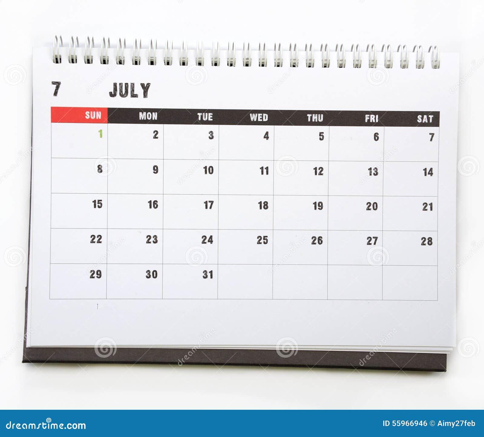 7月-日历