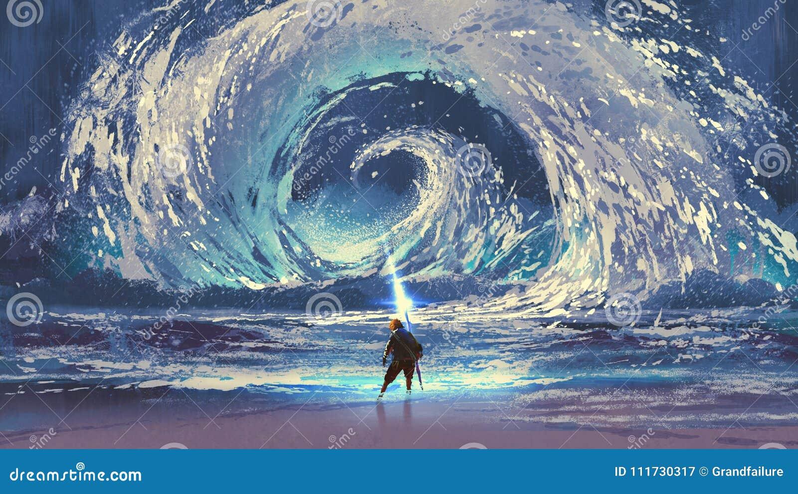 有不可思议的矛的人做打旋的海