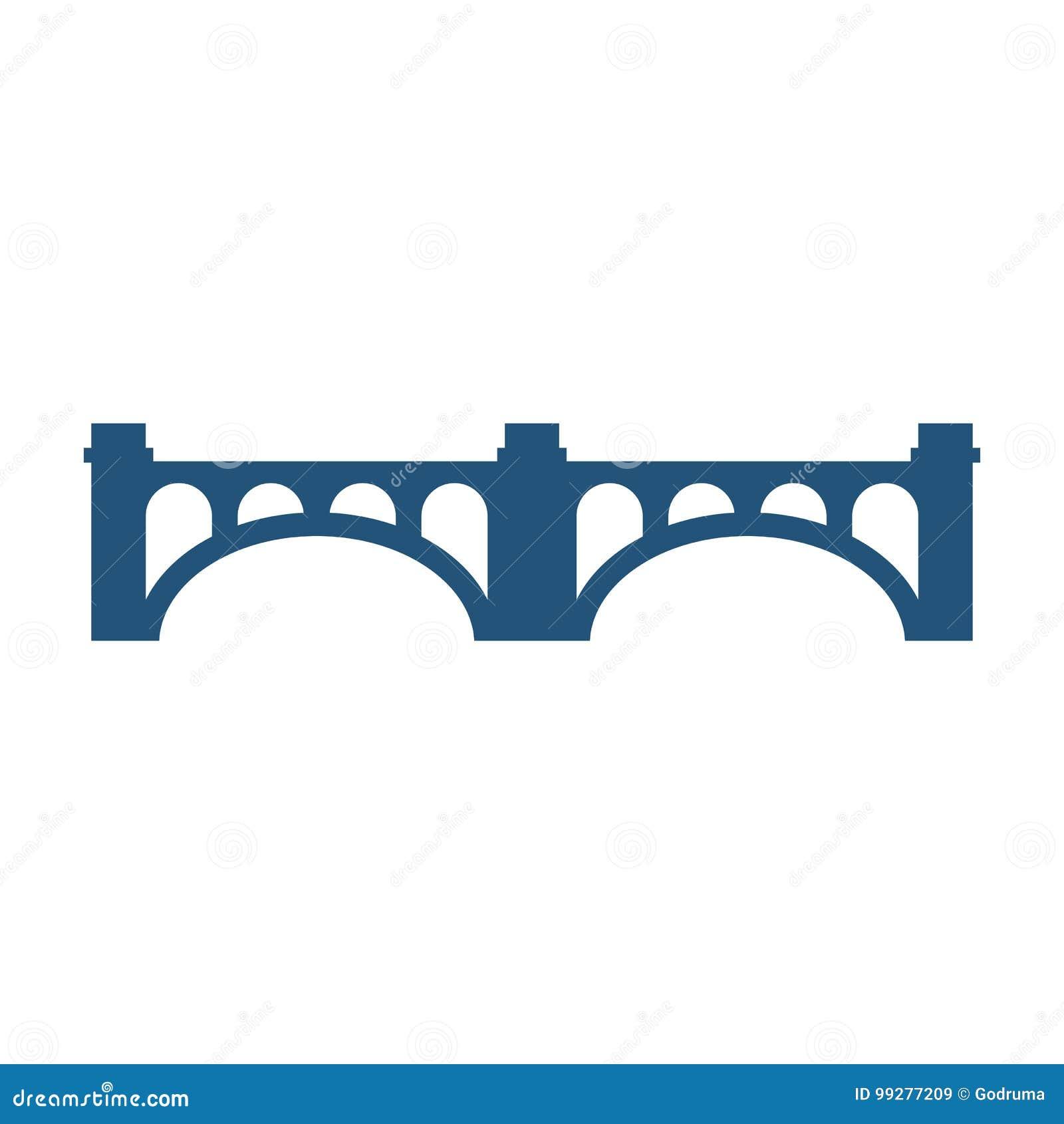 有专栏的被成拱形的桥梁现出轮廓传染媒介被隔绝的例证象