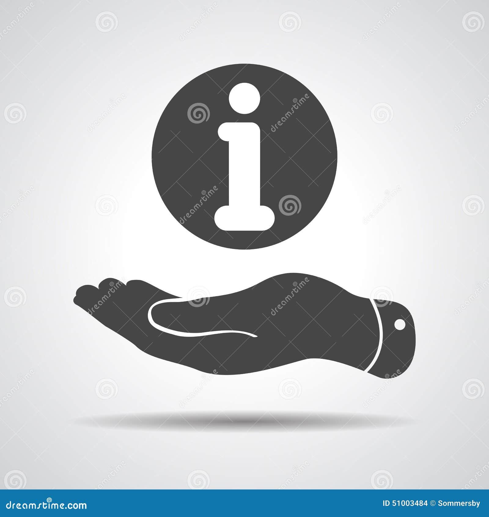 有信息象的平的手
