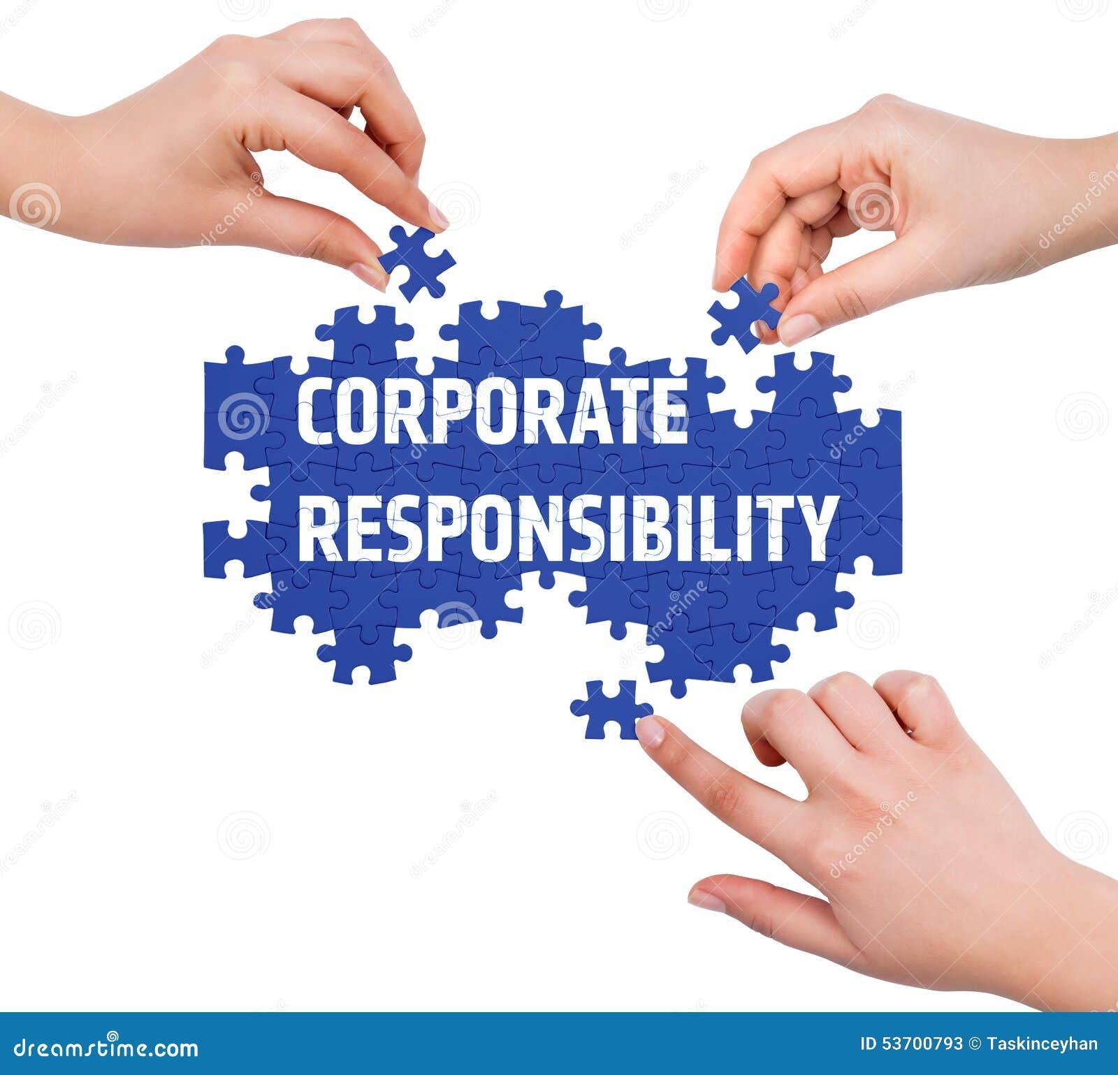 有做公司责任词的难题的手