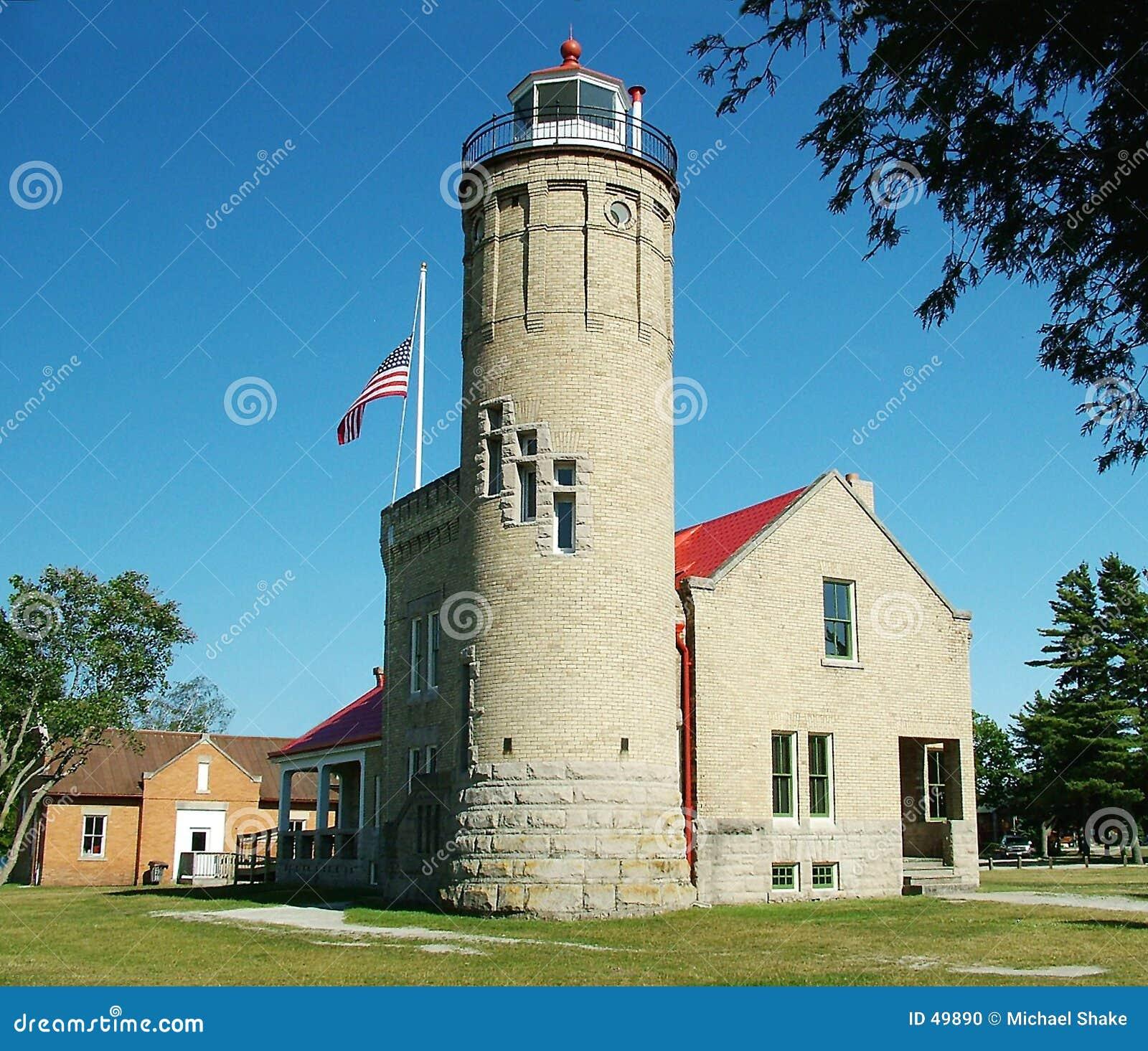 有历史的灯塔mackinaw