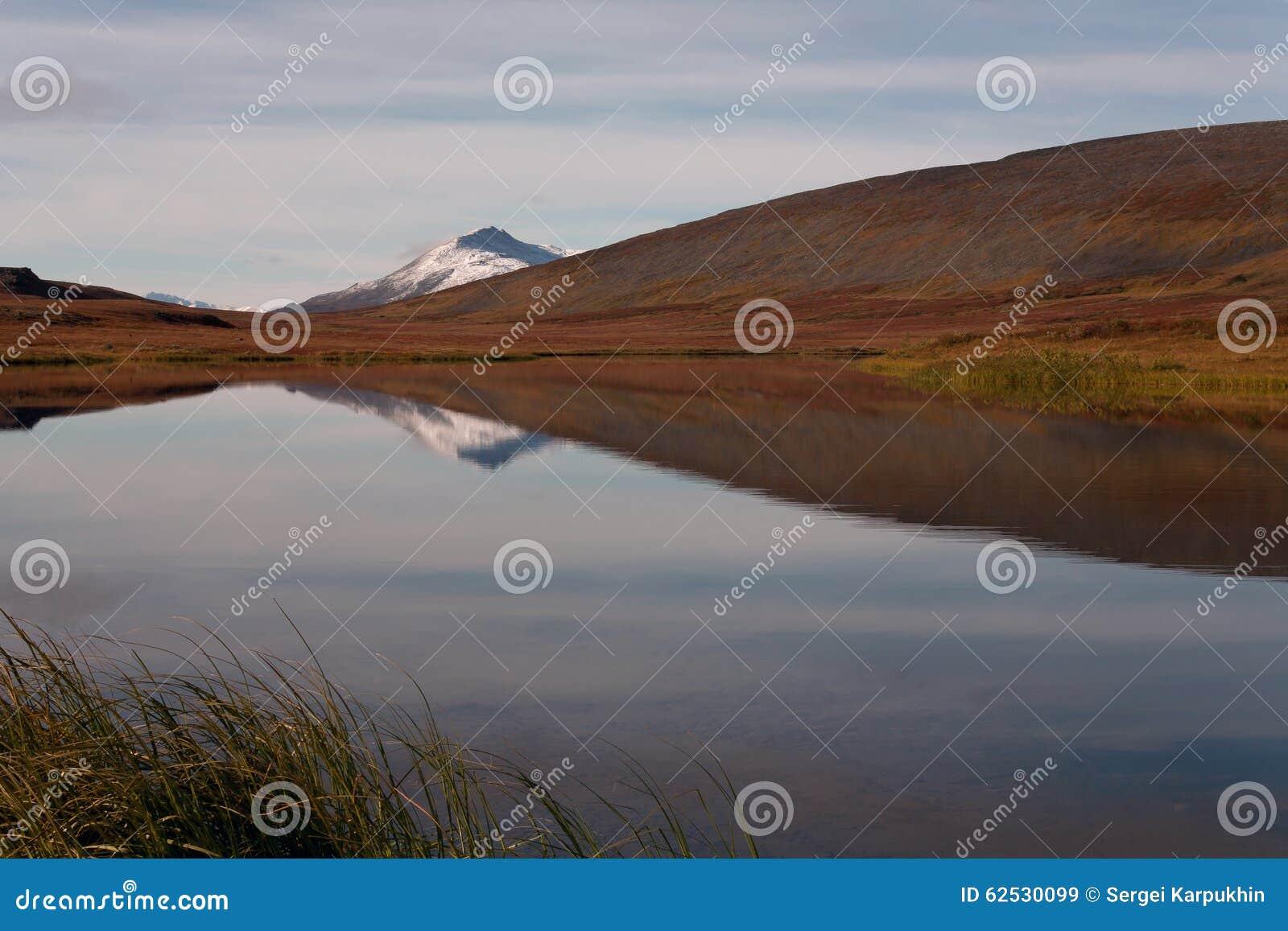 有反射的湖