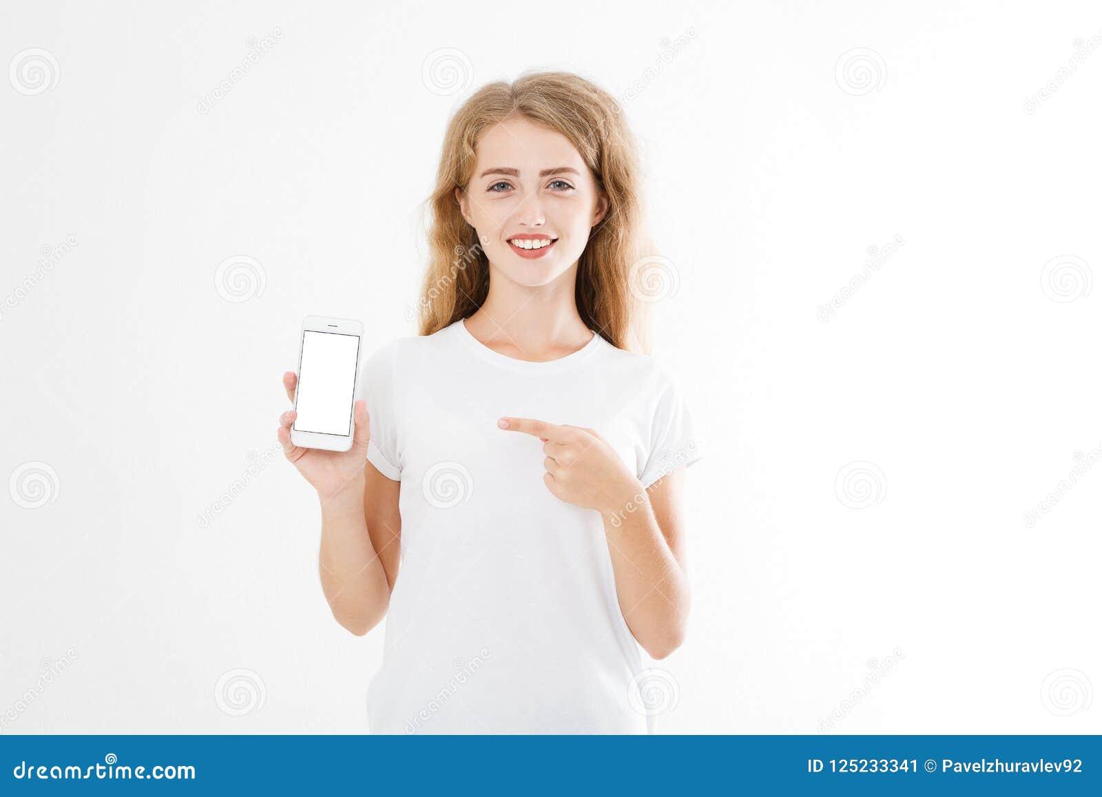 有吸引力的画象微笑,俏丽,深色的妇女,衬衣的女孩,指向 青少年的女实业家 确信的经理年轻人 复制