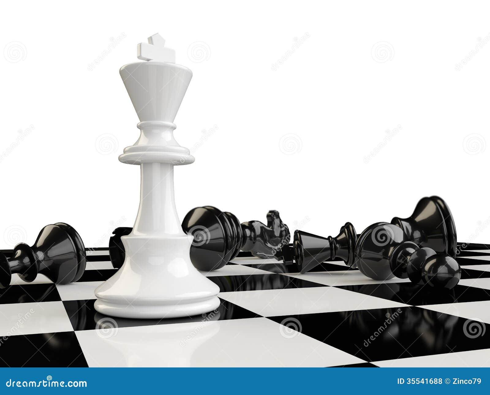 有国王站立的一杆棋枰和在的其他片断