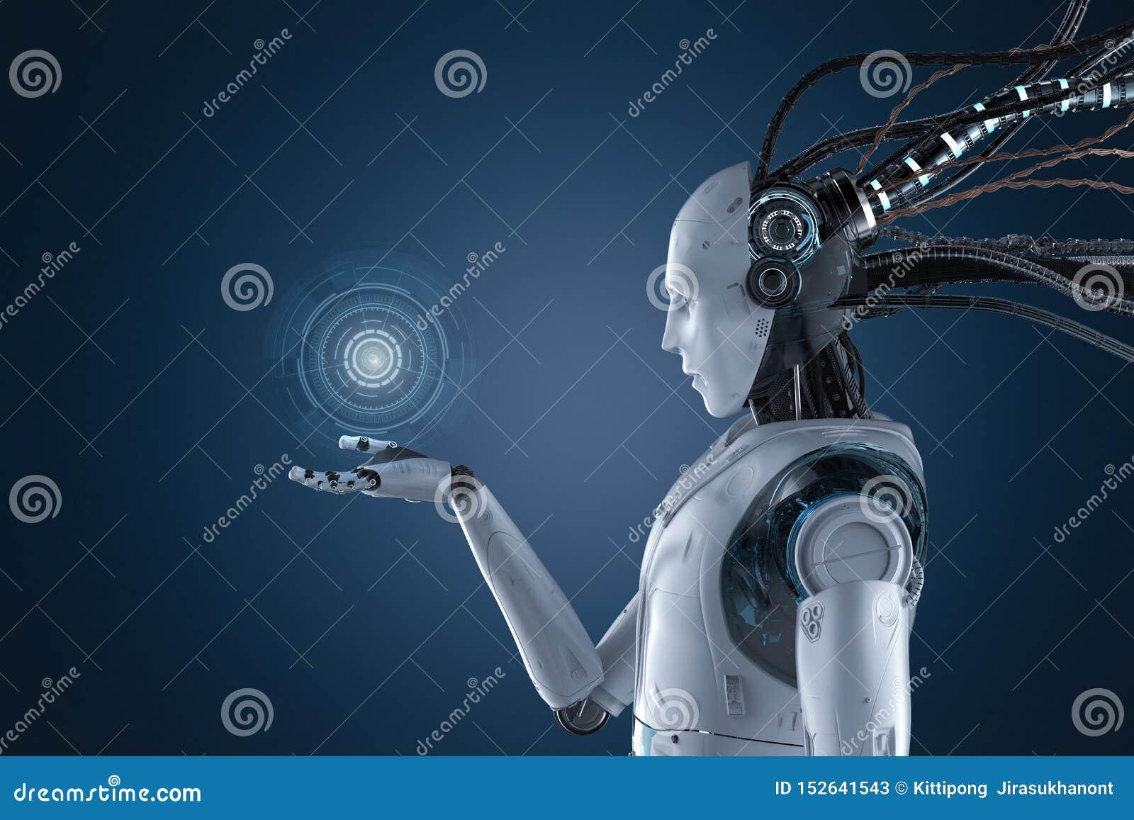 有图形显示的机器人
