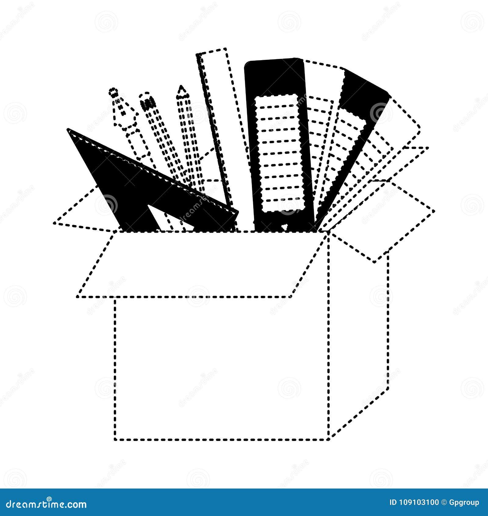 有图表设计工具的纸板箱在黑色加点了等高
