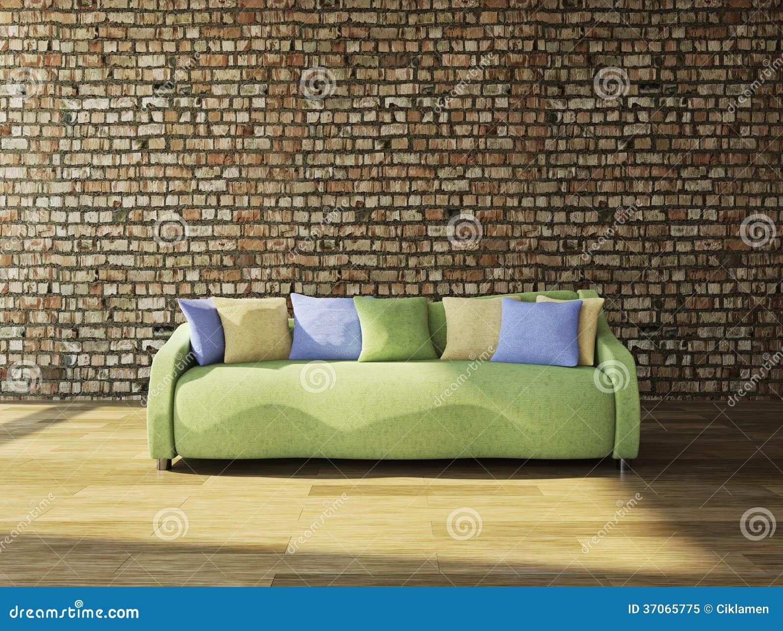 有坐垫的沙发图片