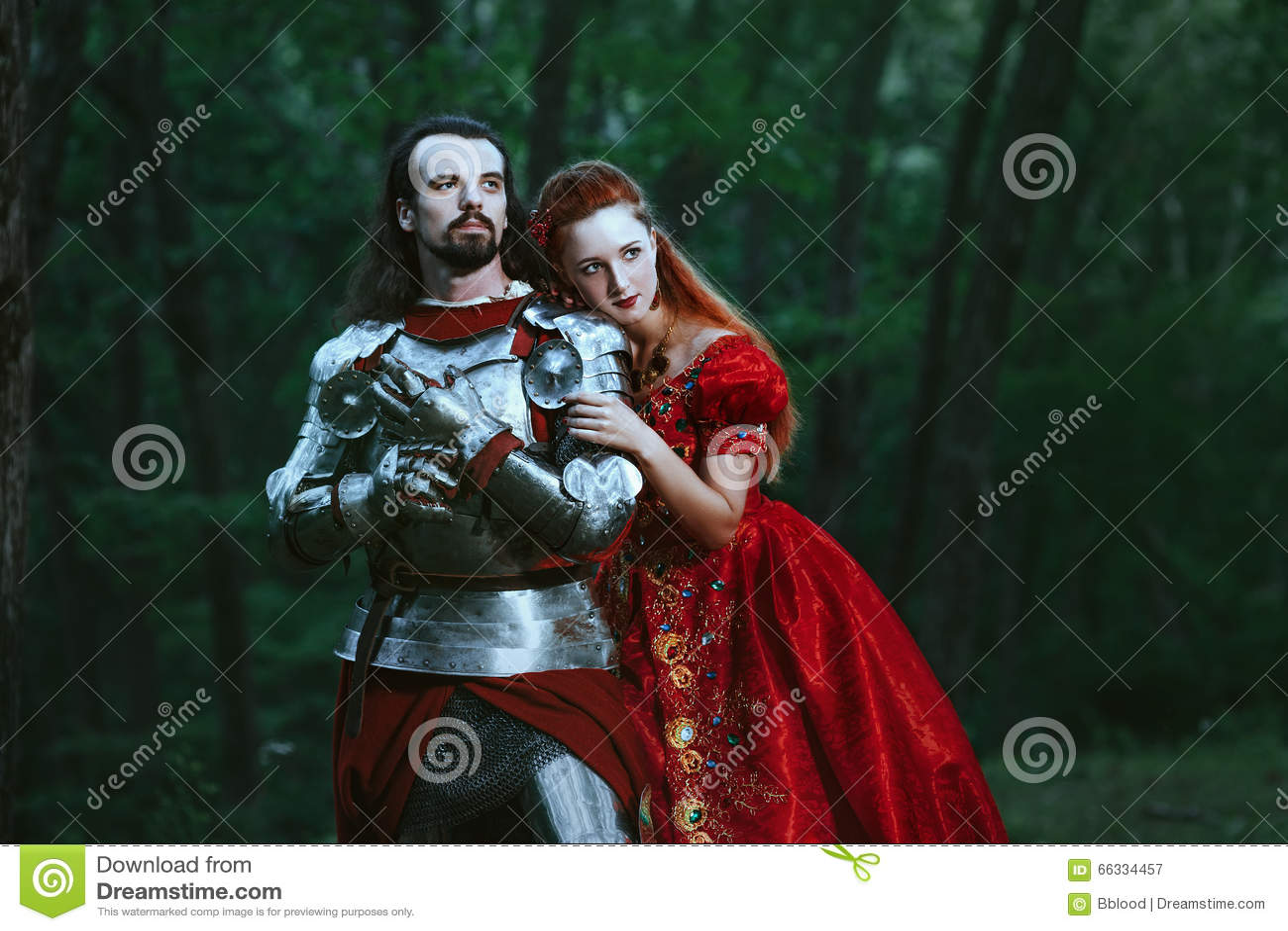 有夫人的中世纪骑士