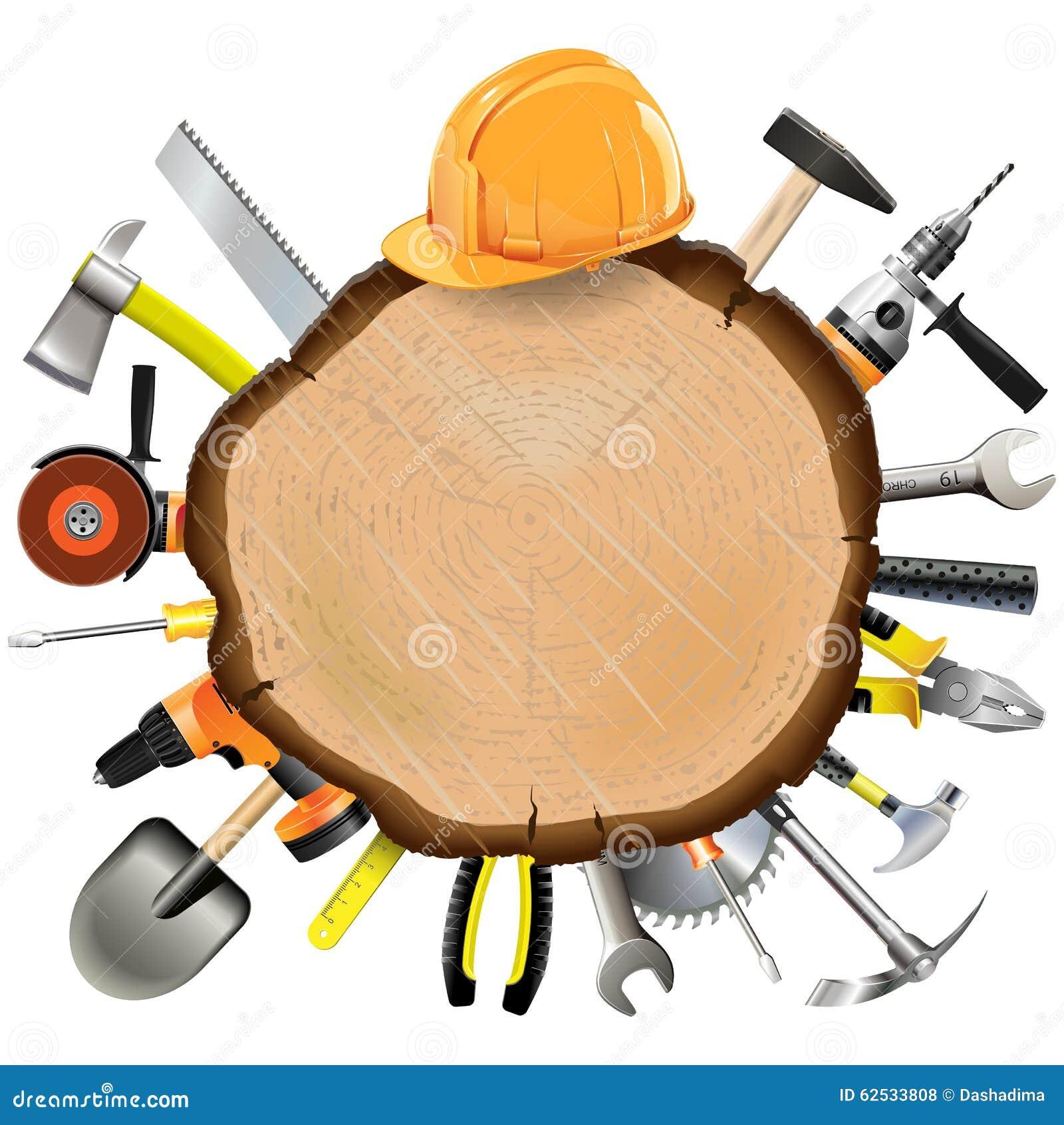 有工具的传染媒介建筑木板