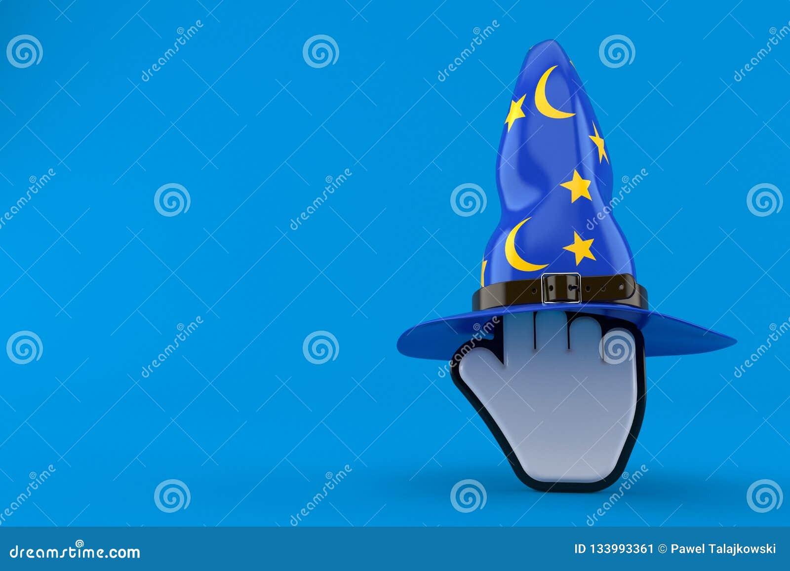 有巫术师帽子的游标