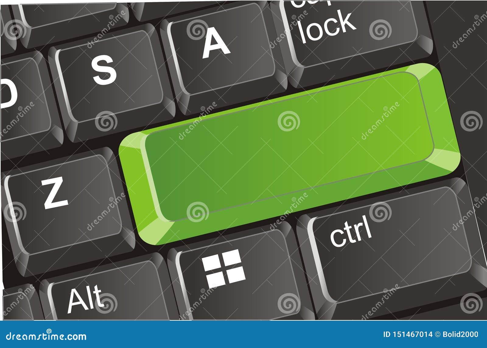 有干净的按钮的键盘