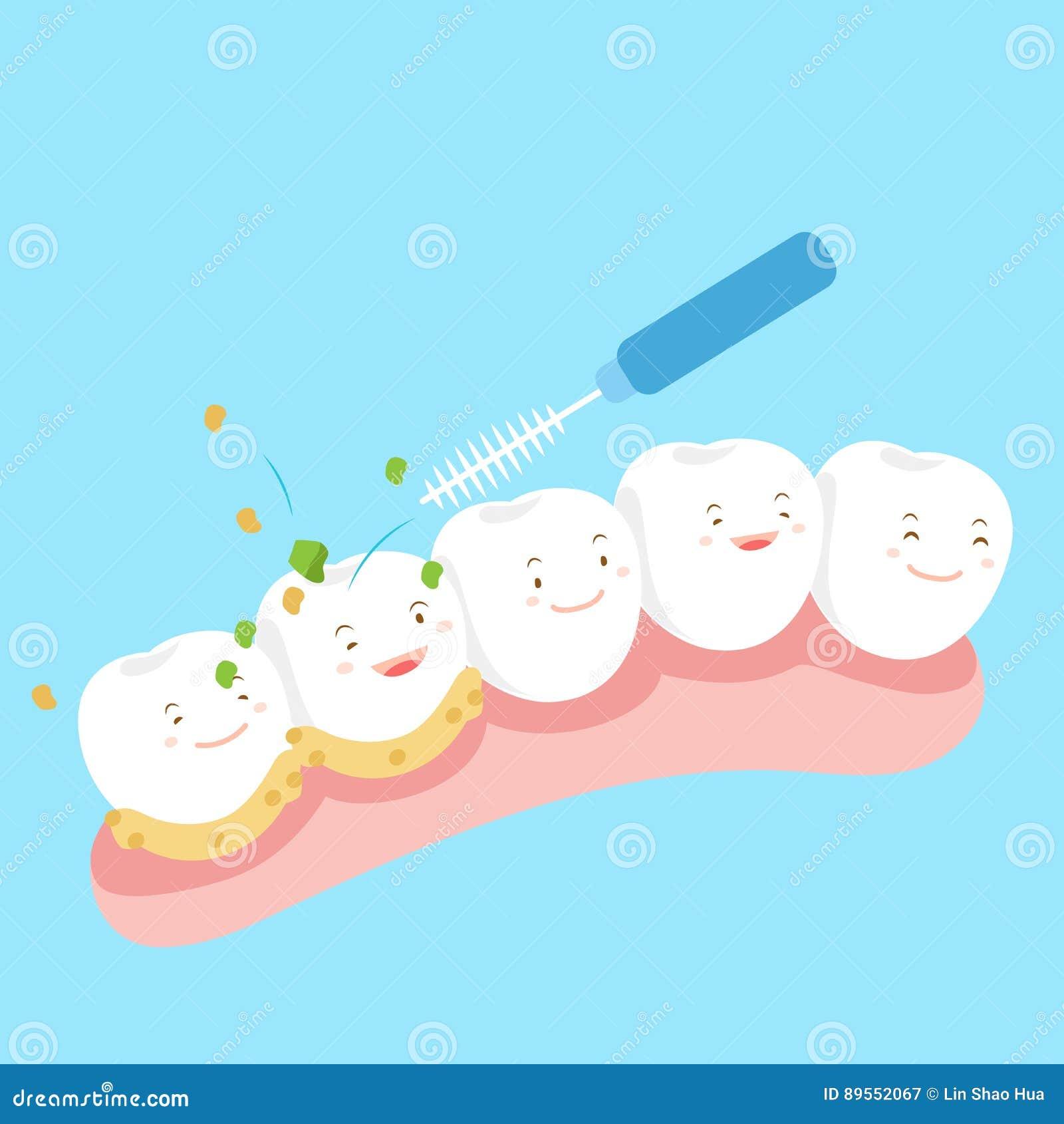 有干净的牙