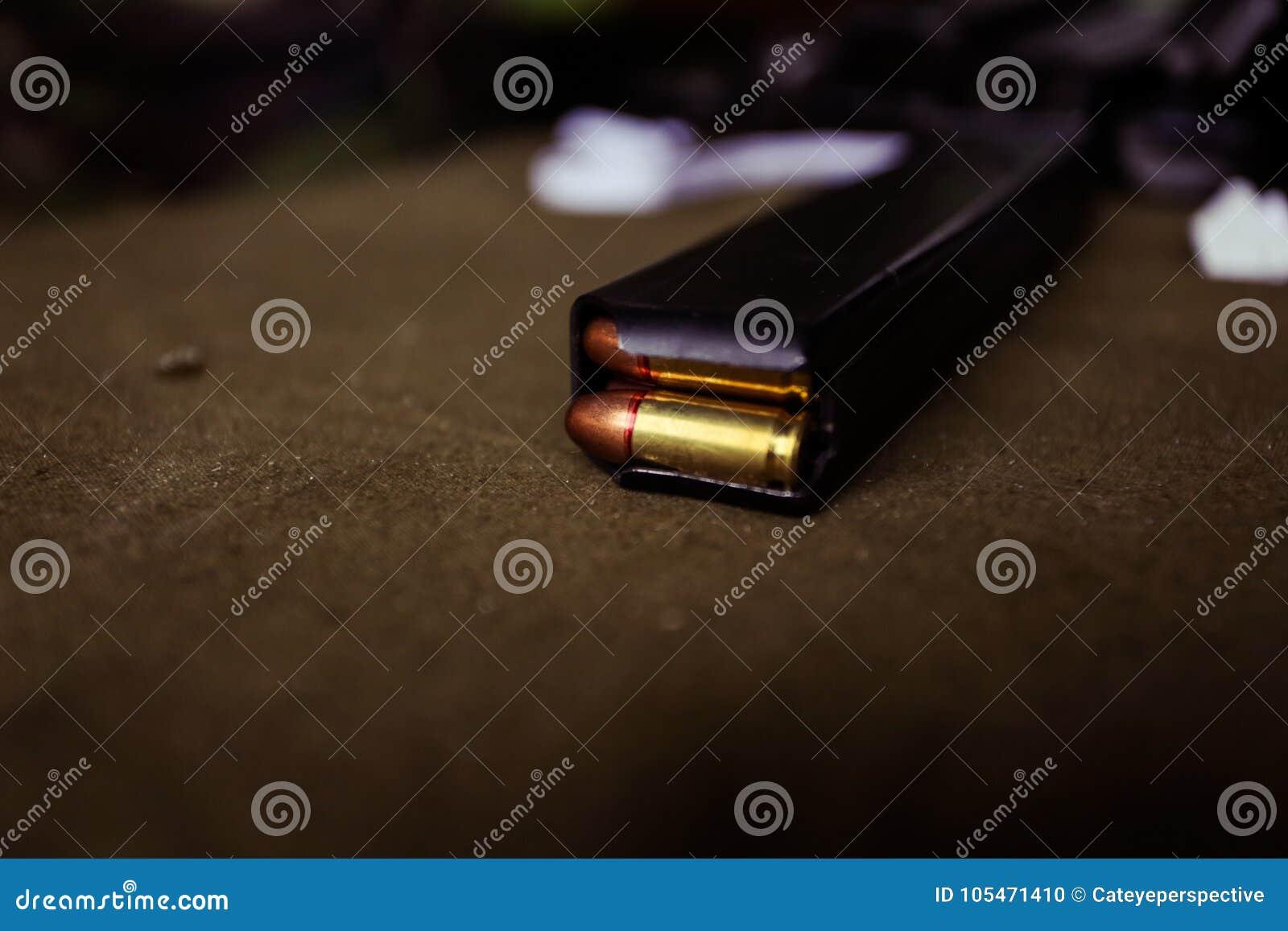 有弹药筒的9mm弹药