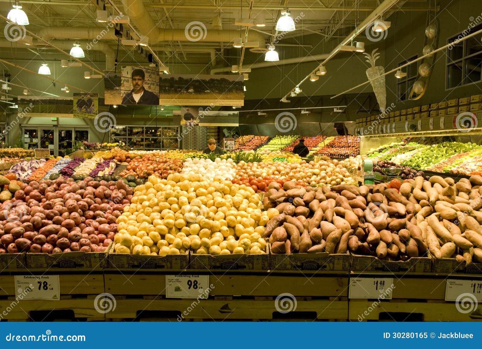 有大量的大超级市场菜