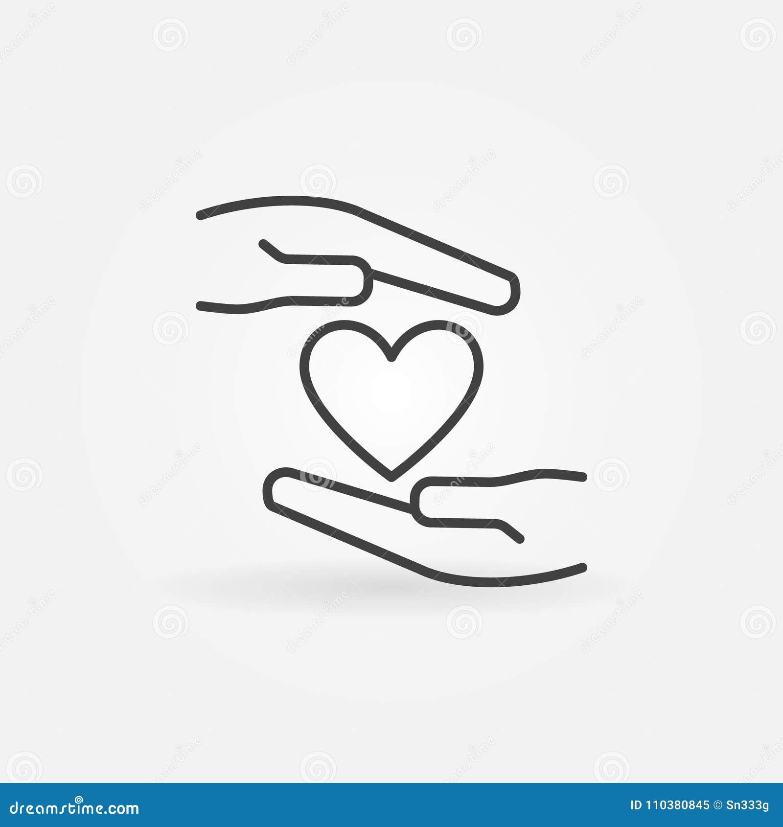 有心脏概述传染媒介象或标志的手