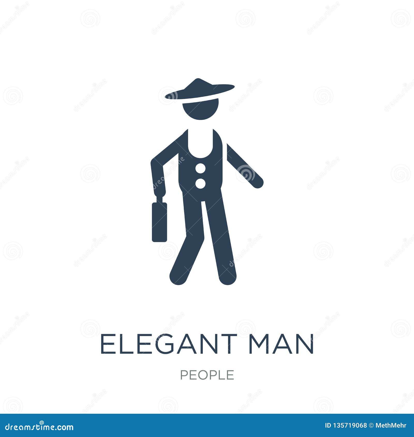 有手提箱象的典雅的人在时髦设计样式 有在白色背景隔绝的手提箱象的典雅的人 典雅的人