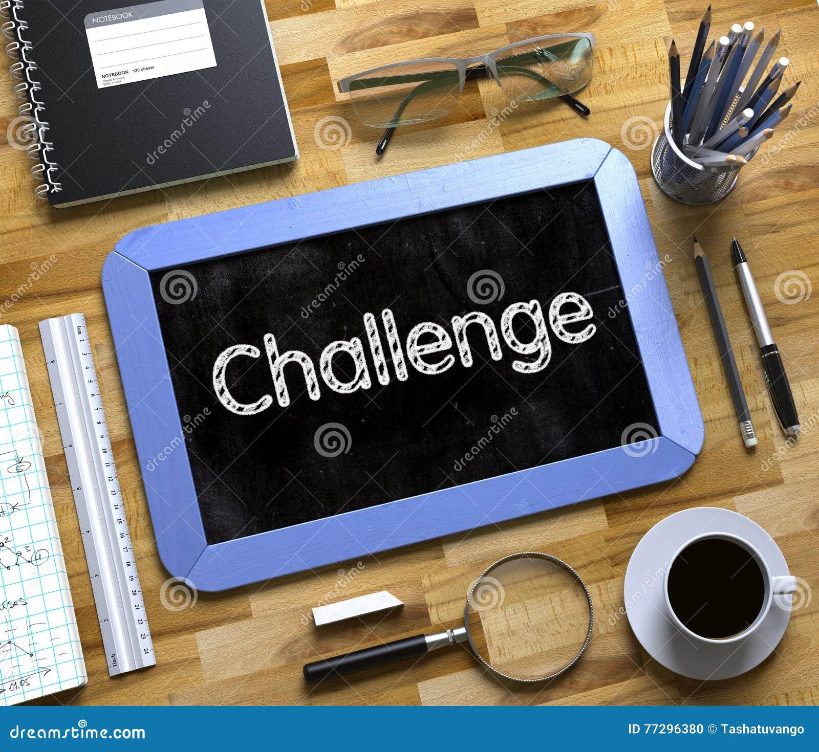 有挑战概念的小黑板 3d例证