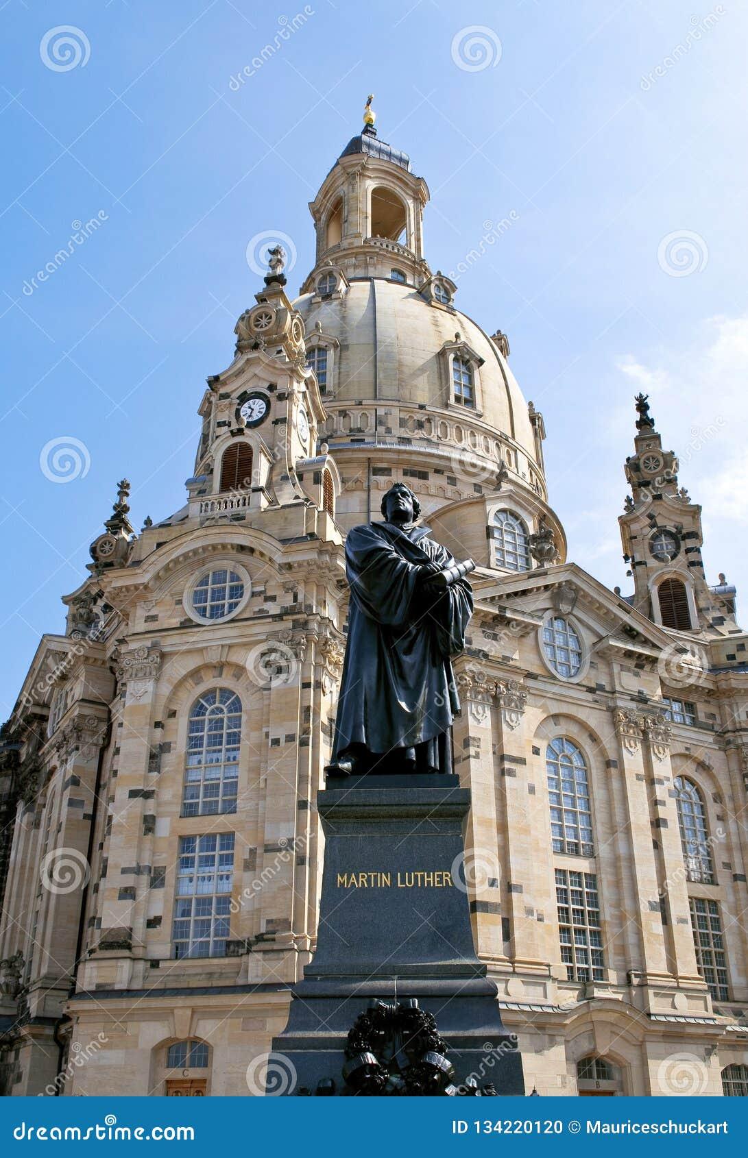 有教会的Frauenkirche德国镇德累斯顿