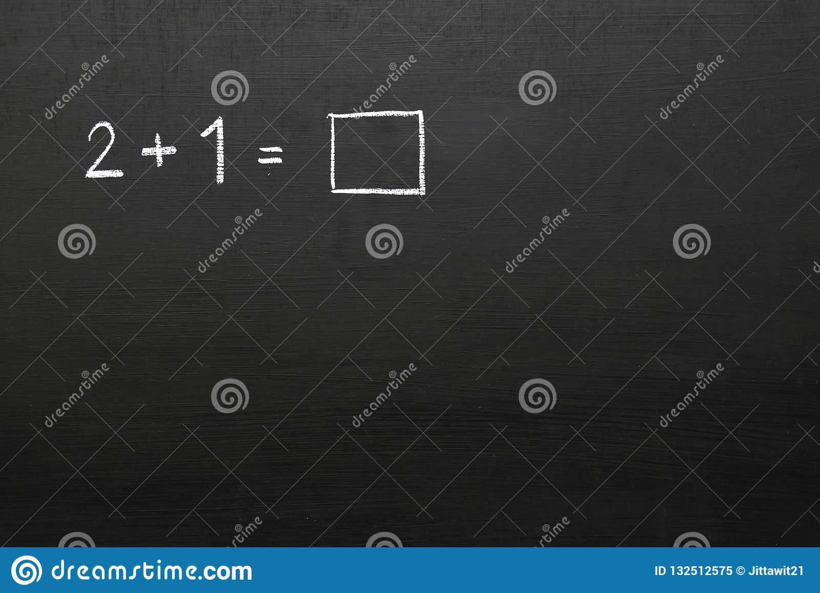 有数学问题的黑板 数字和数学符号u