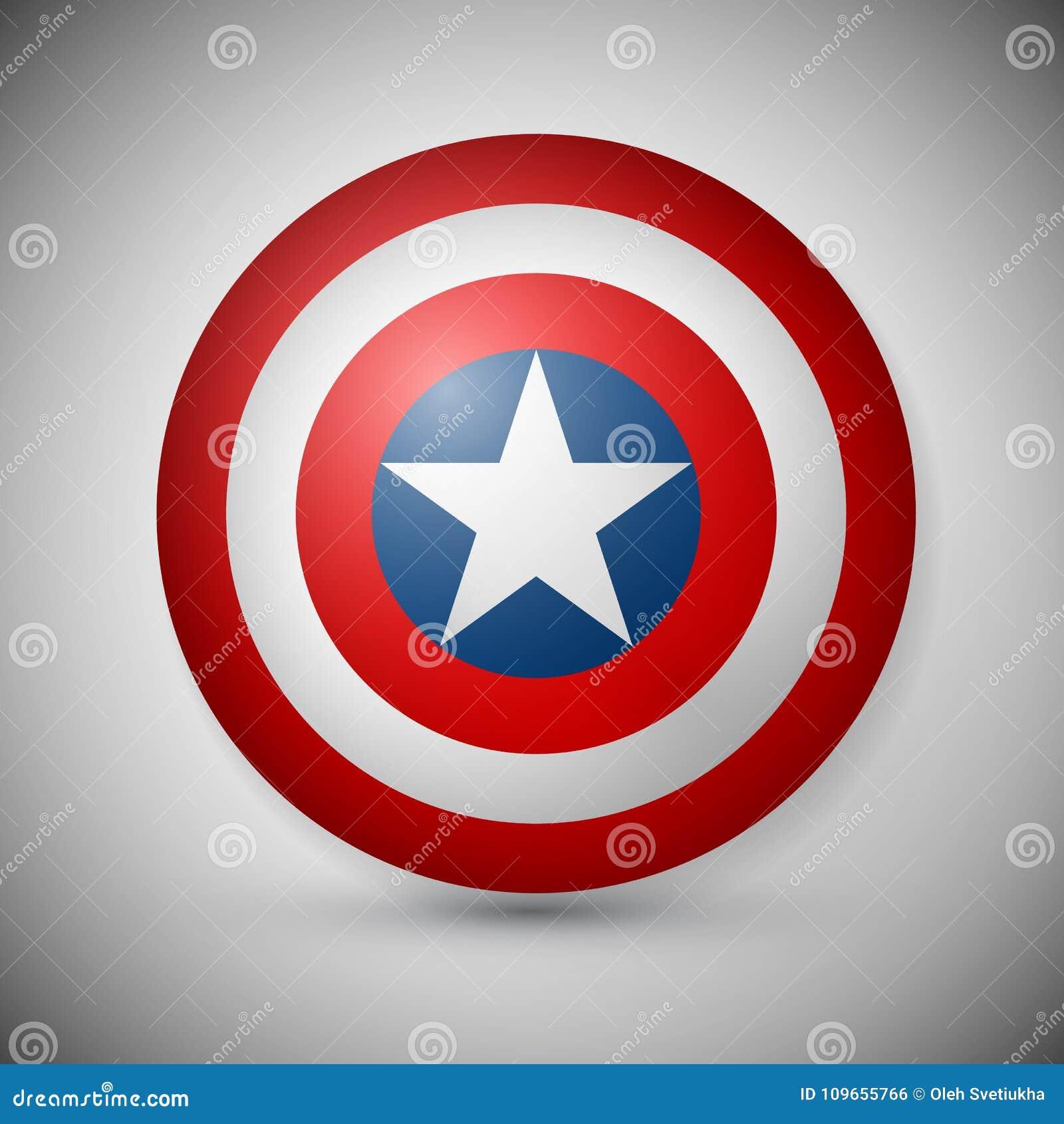 有星的盾,超级英雄盾,漫画盾