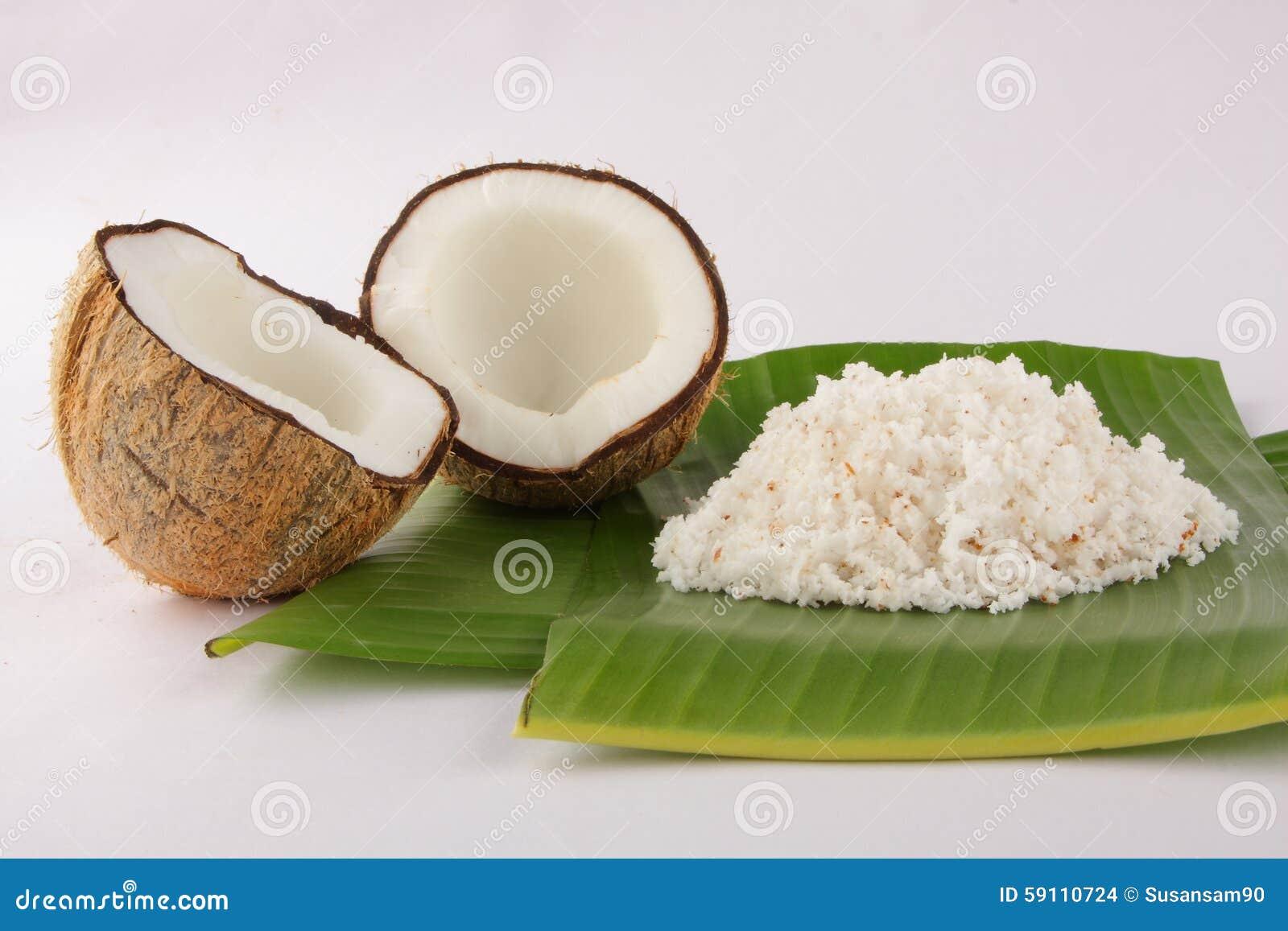 有机切细的椰子