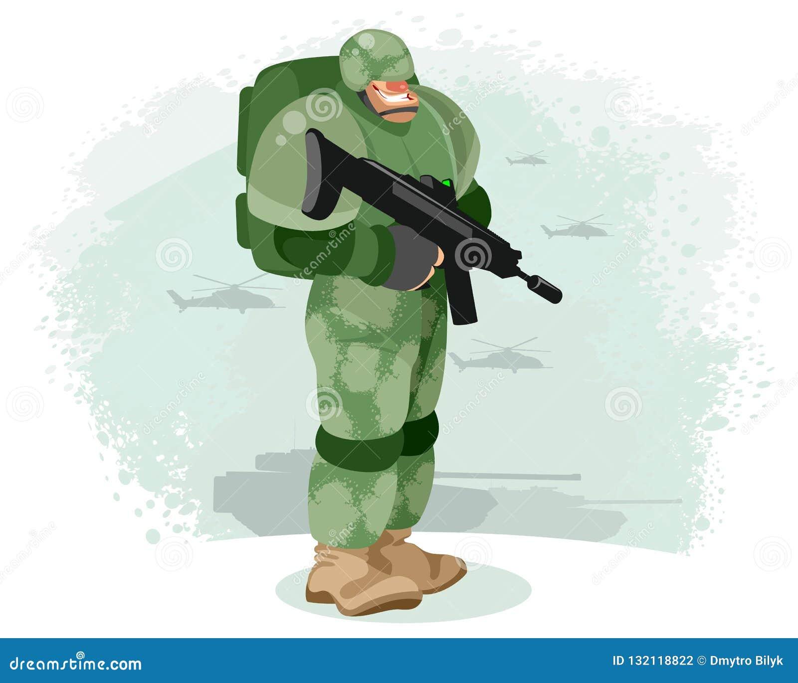 有枪的战士