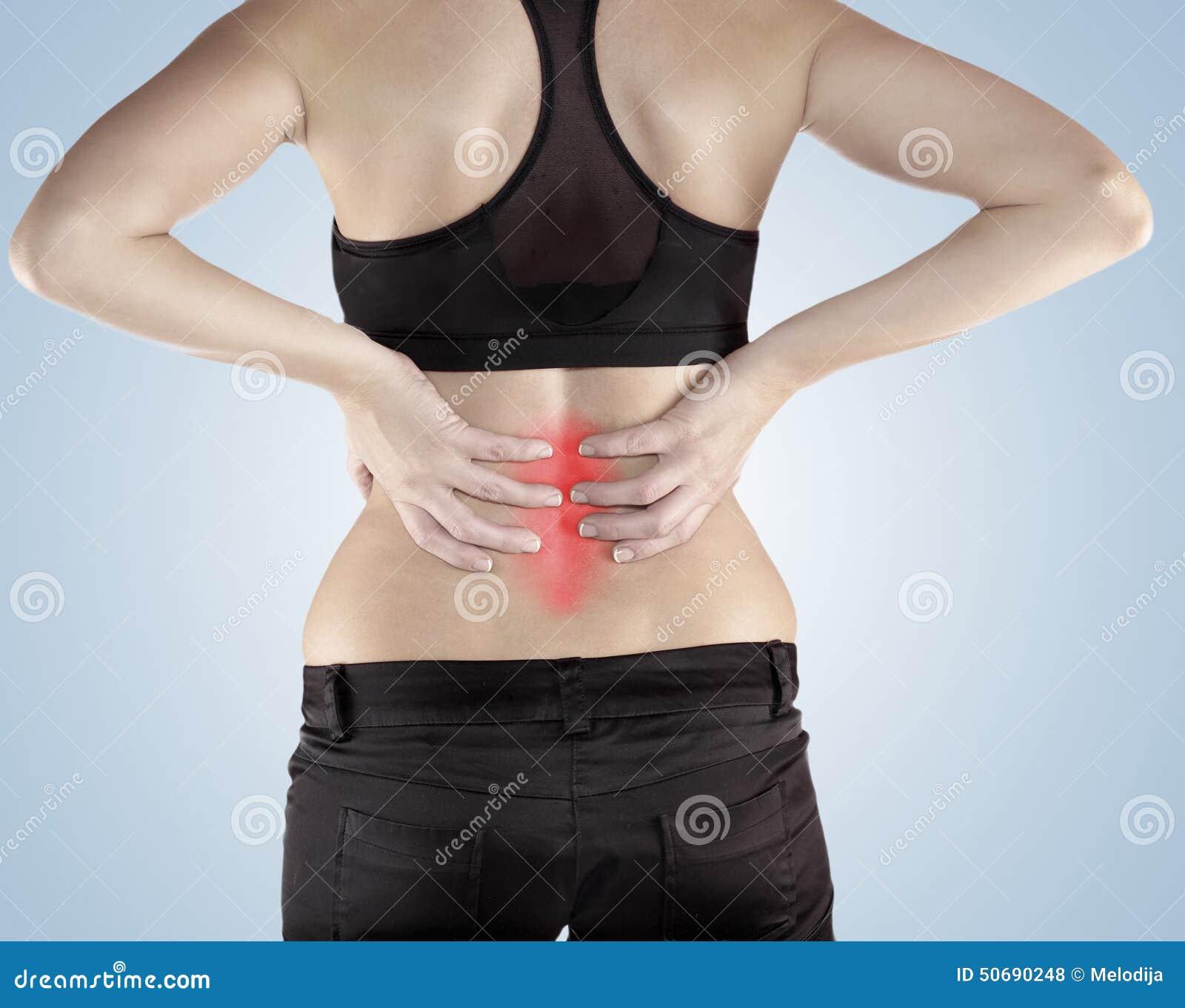 Download 有棕榈的妇女回到展示痛苦和伤害后面 库存照片. 图片 包括有 执行, 协助, 健康, 复制, 伤害, 女性 - 50690248