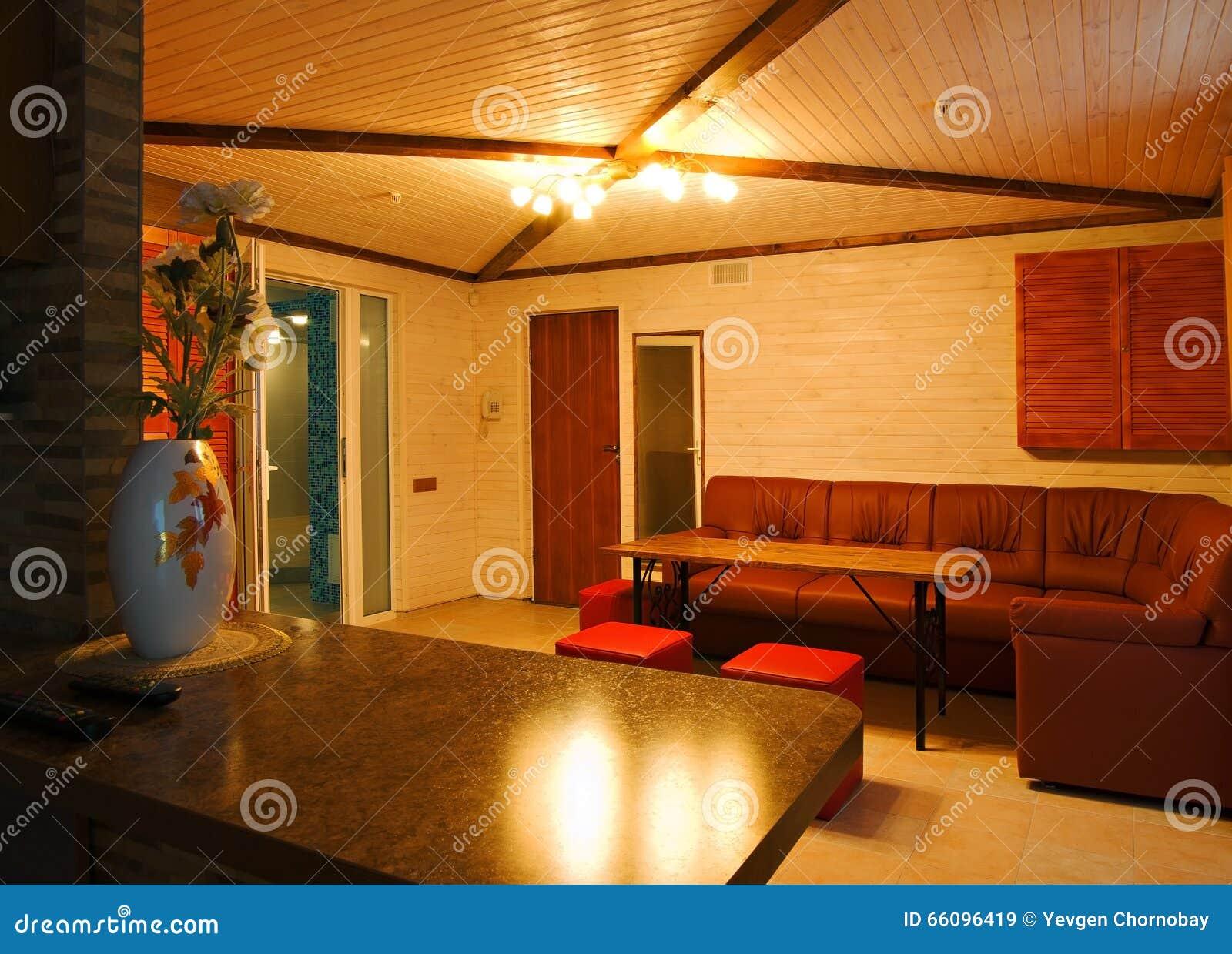 有沙发和表的空间