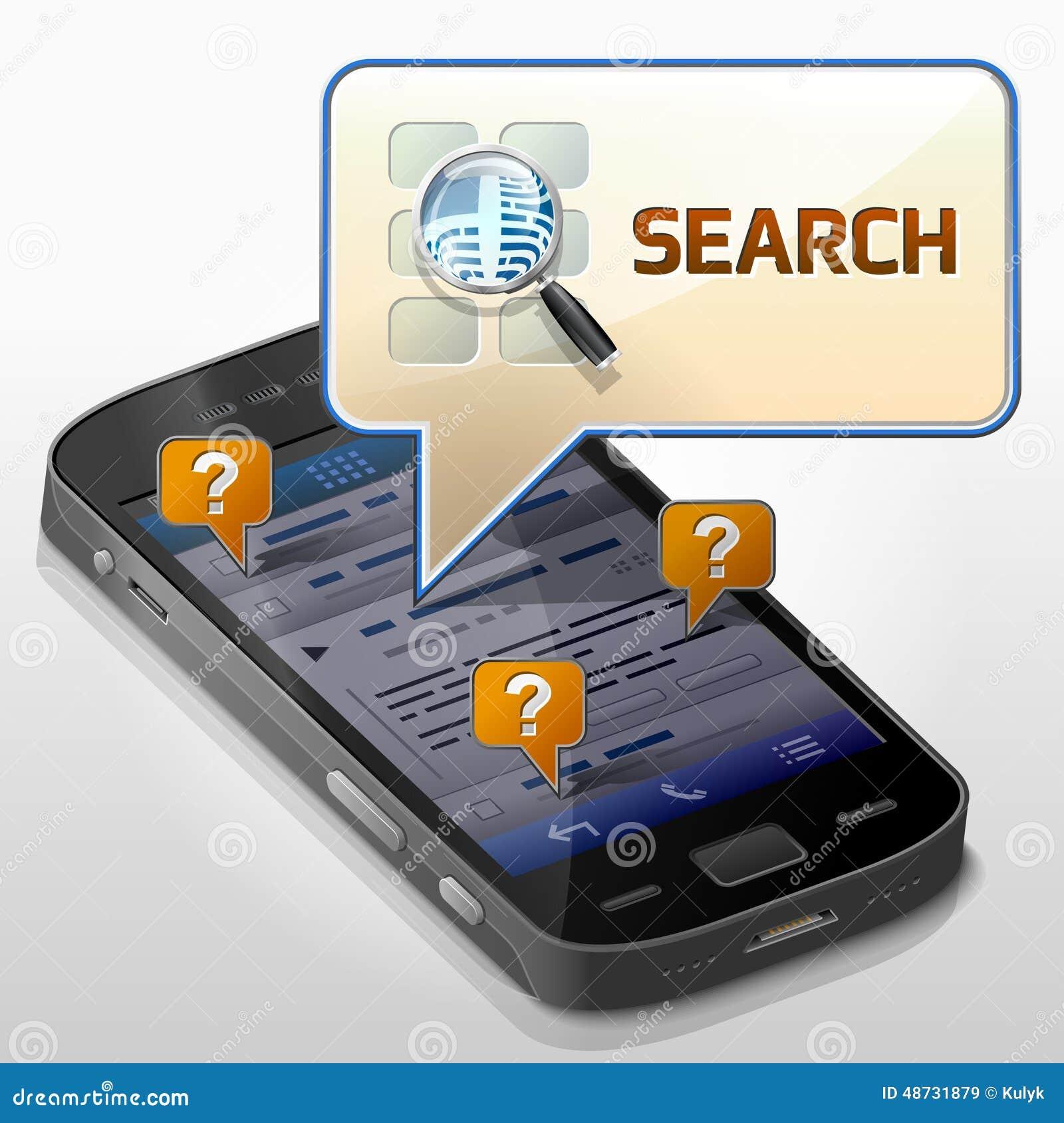 有消息泡影的智能手机关于查寻