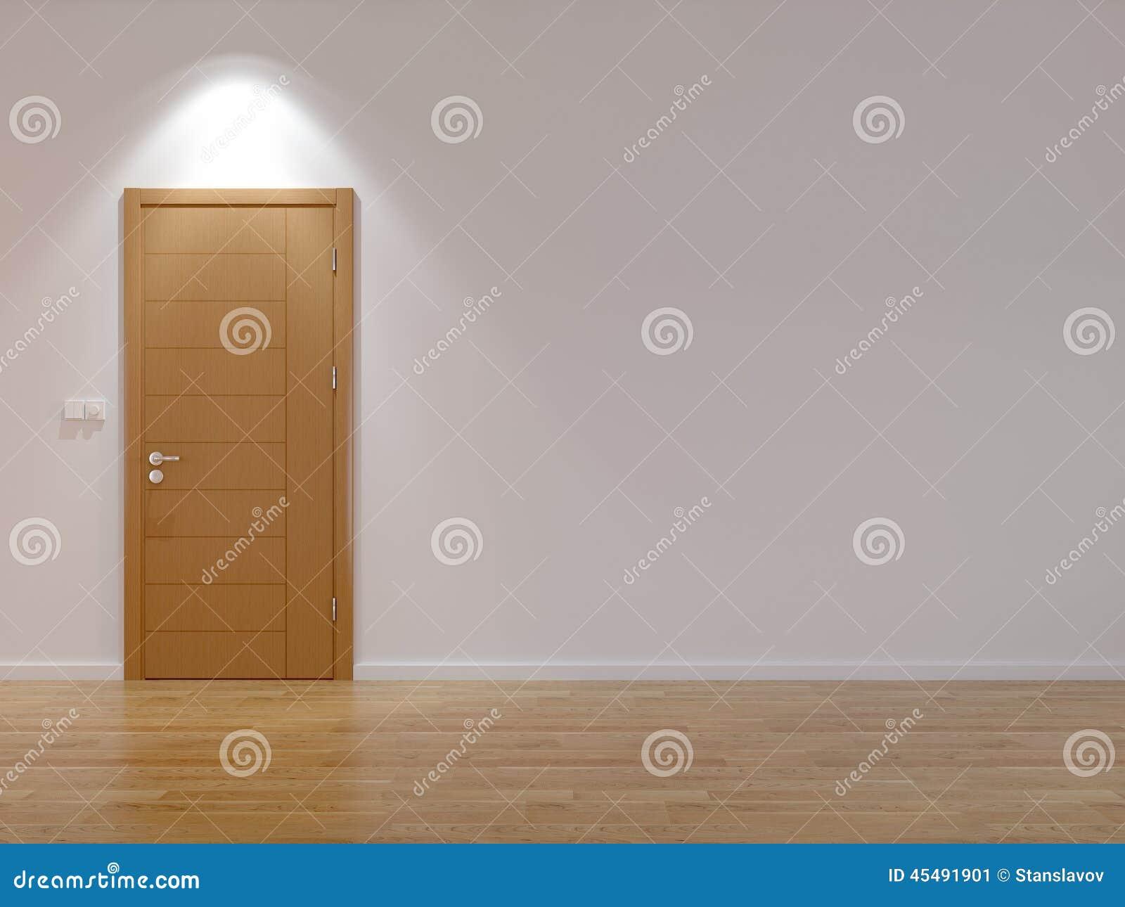 有现代门的空的室