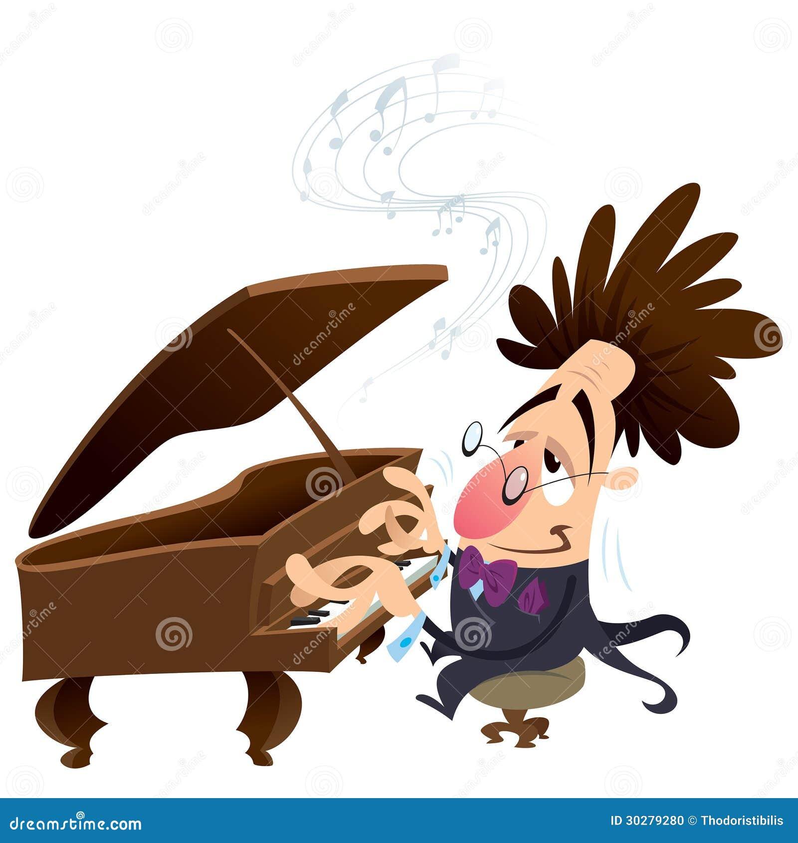 动画片钢琴演奏家