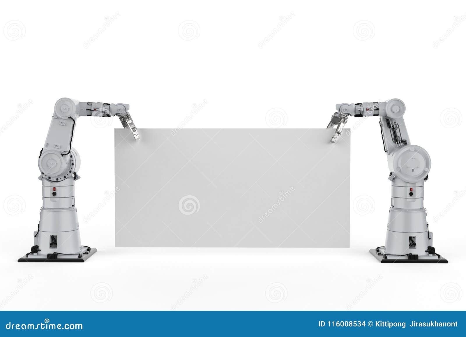 有白纸的机器人