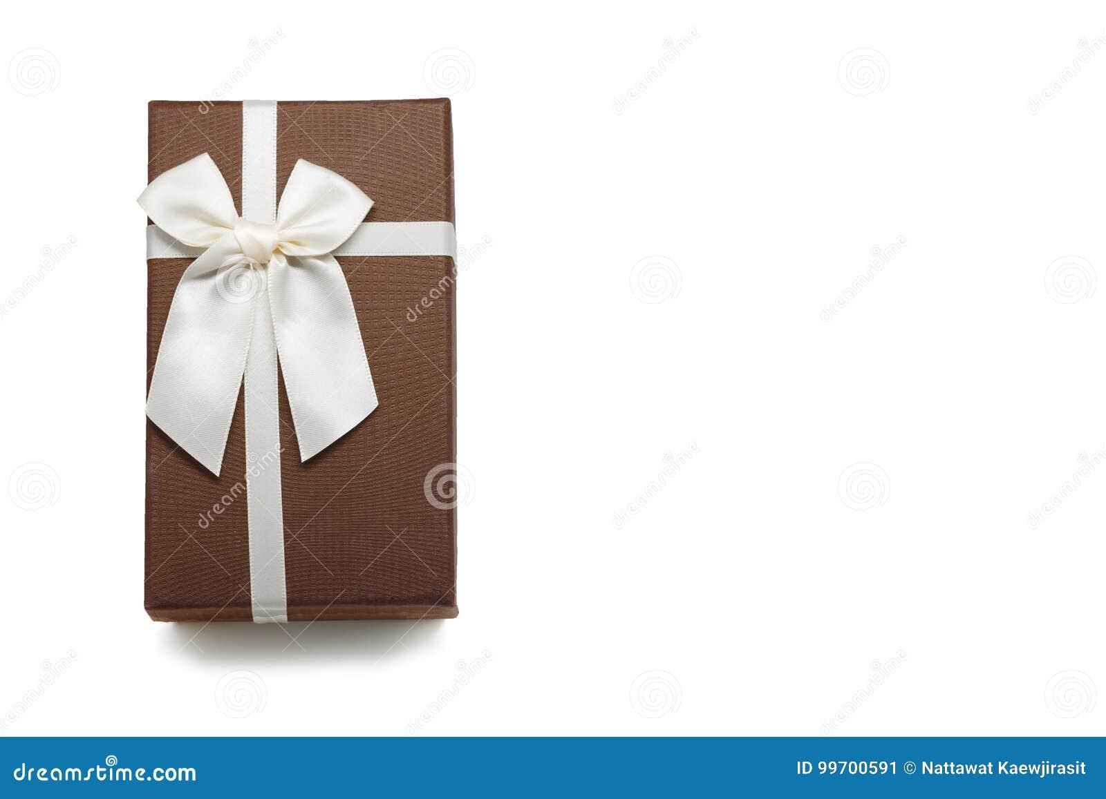 有白色丝带弓的礼物盒