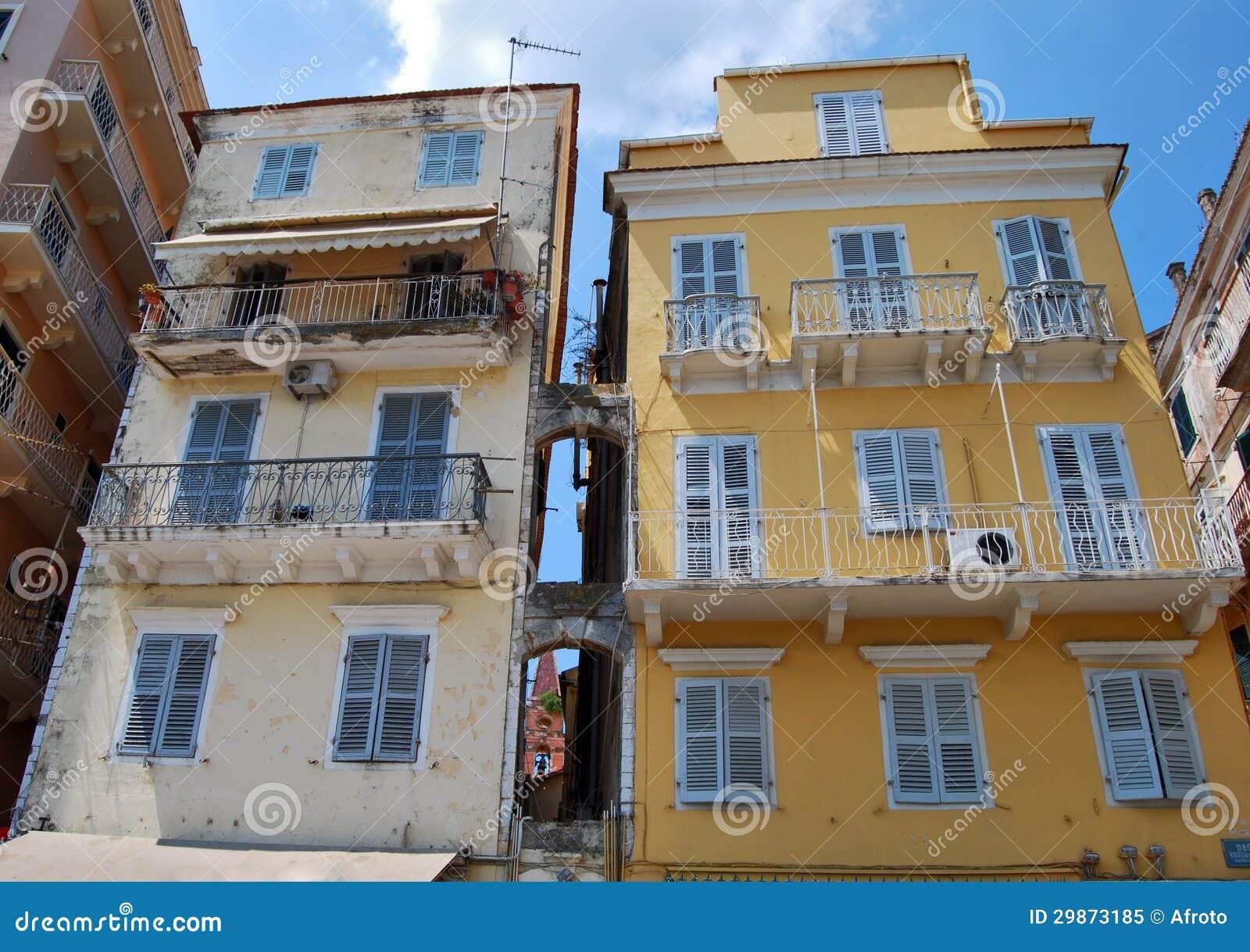 Islan的科孚岛的老房子