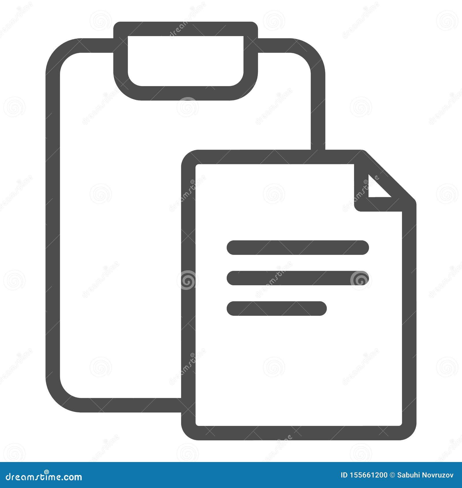 有签署线的文件的剪贴板象 纸和checkboard在白色隔绝的传染媒介例证 形式概述