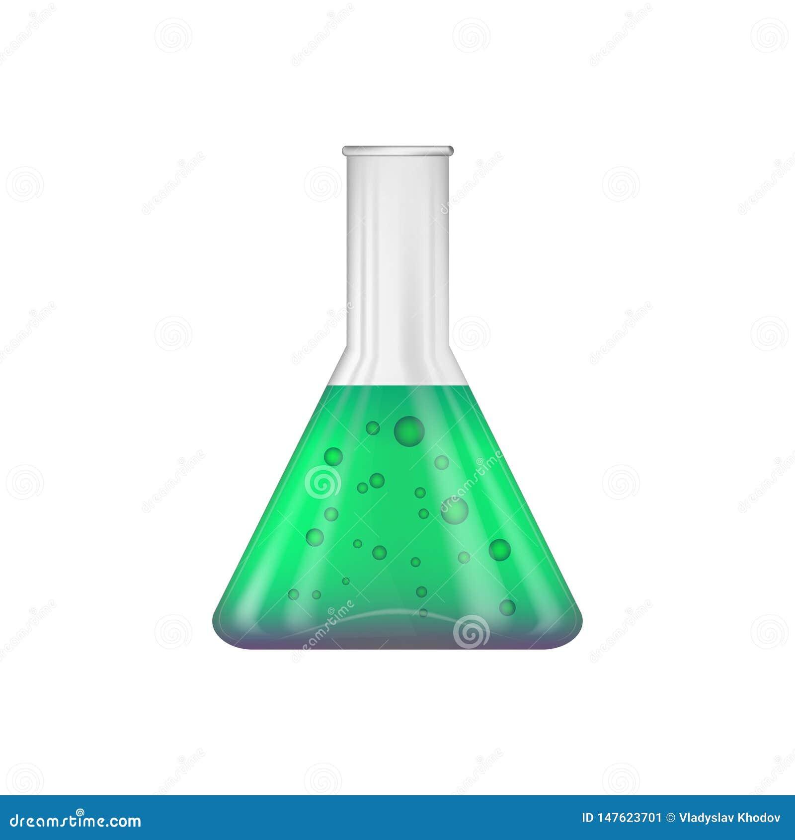 ?? 有绿色的一个圆锥形的化工烧瓶-里面紫色试剂