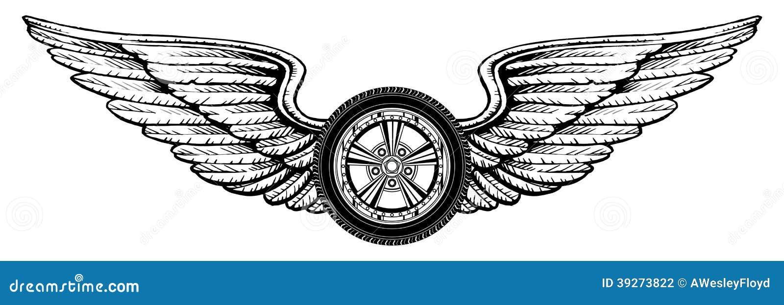 有翼的轮子